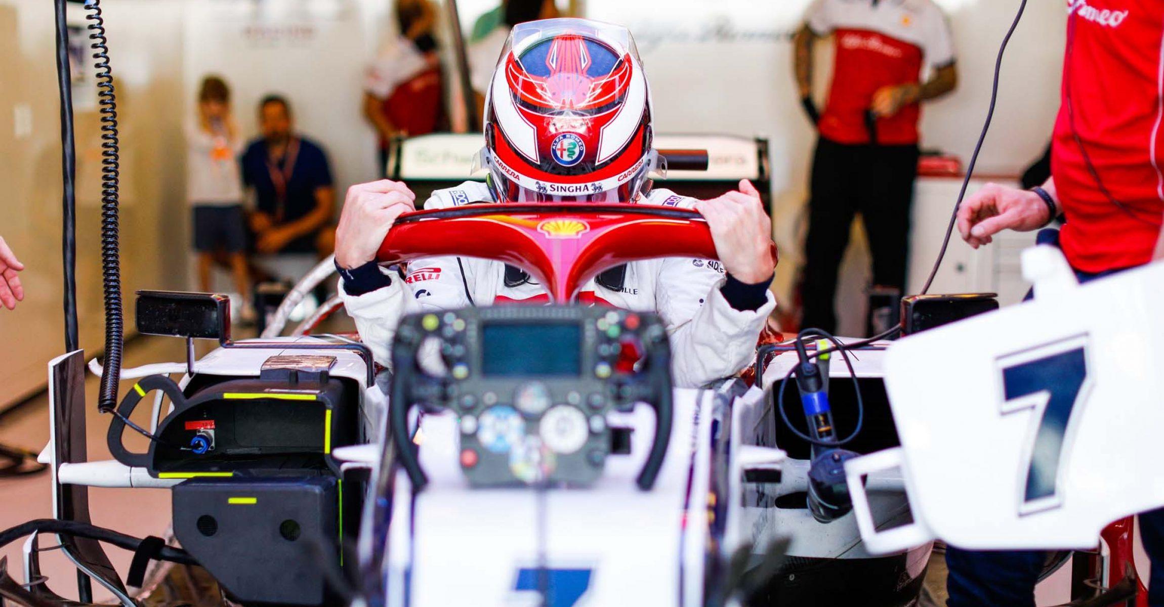 RAIKKONEN Kimi (fin), Alfa Romeo Racing C38, portrait during the 2019 Formula One World Championship, Abu Dhabi Grand Prix from November 28 to december 1 in Yas Marina - Photo Frederic Le Floc'h / DPPI