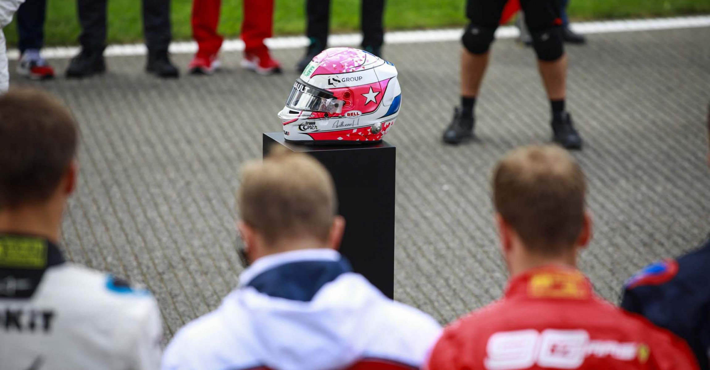 Tribute to Anthoine Hubert before the start of the race during the 2019 Formula One World Championship, Belgium Grand Prix from August 29 to september 1 in Spa -Francorchamps, Belgium - Photo Xavi Bonilla / DPPI