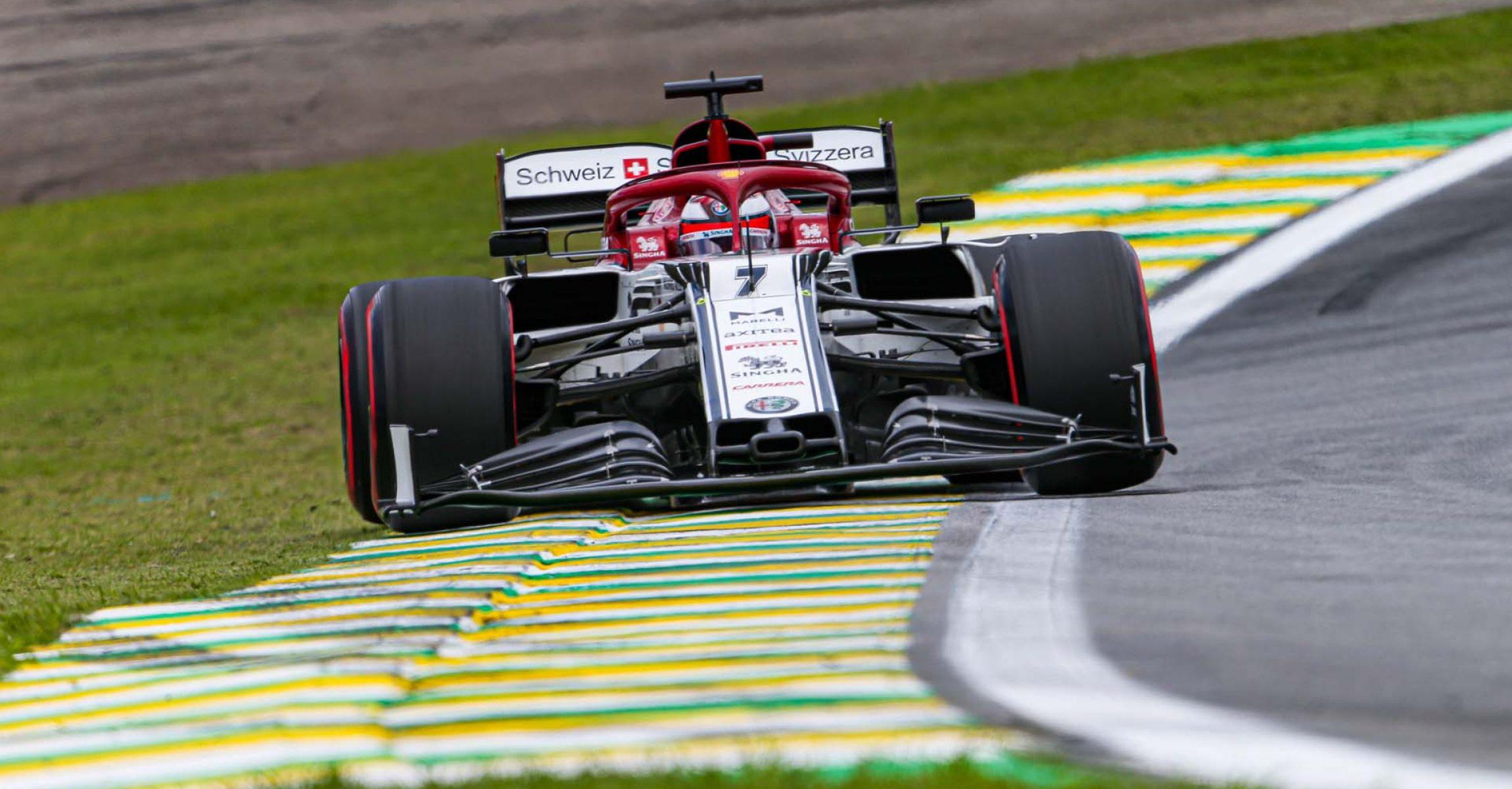 07 RAIKKONEN Kimi Räikkönen (fin), Alfa Romeo Racing C38, action during the 2019 Formula One World Championship, Brazil Grand Prix from November 15 to 17 in Sao Paulo, Brazil - Photo Antonin Vincent / DPPI