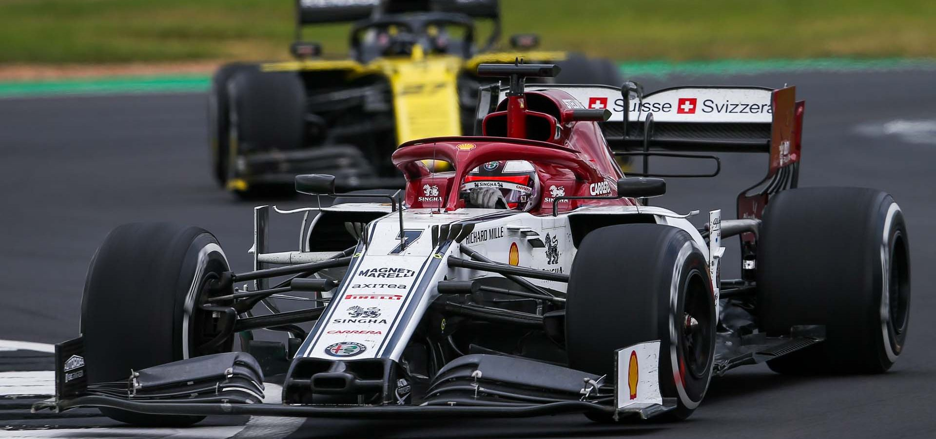 07 RAIKKONEN Räikkönen Kimi (fin), Alfa Romeo Racing C38, action during the 2019 Formula One World Championship, Grand Prix of England from july 11 to 14,  in Silverstone, Great Britain - Photo Antonin Vincent / DPPI