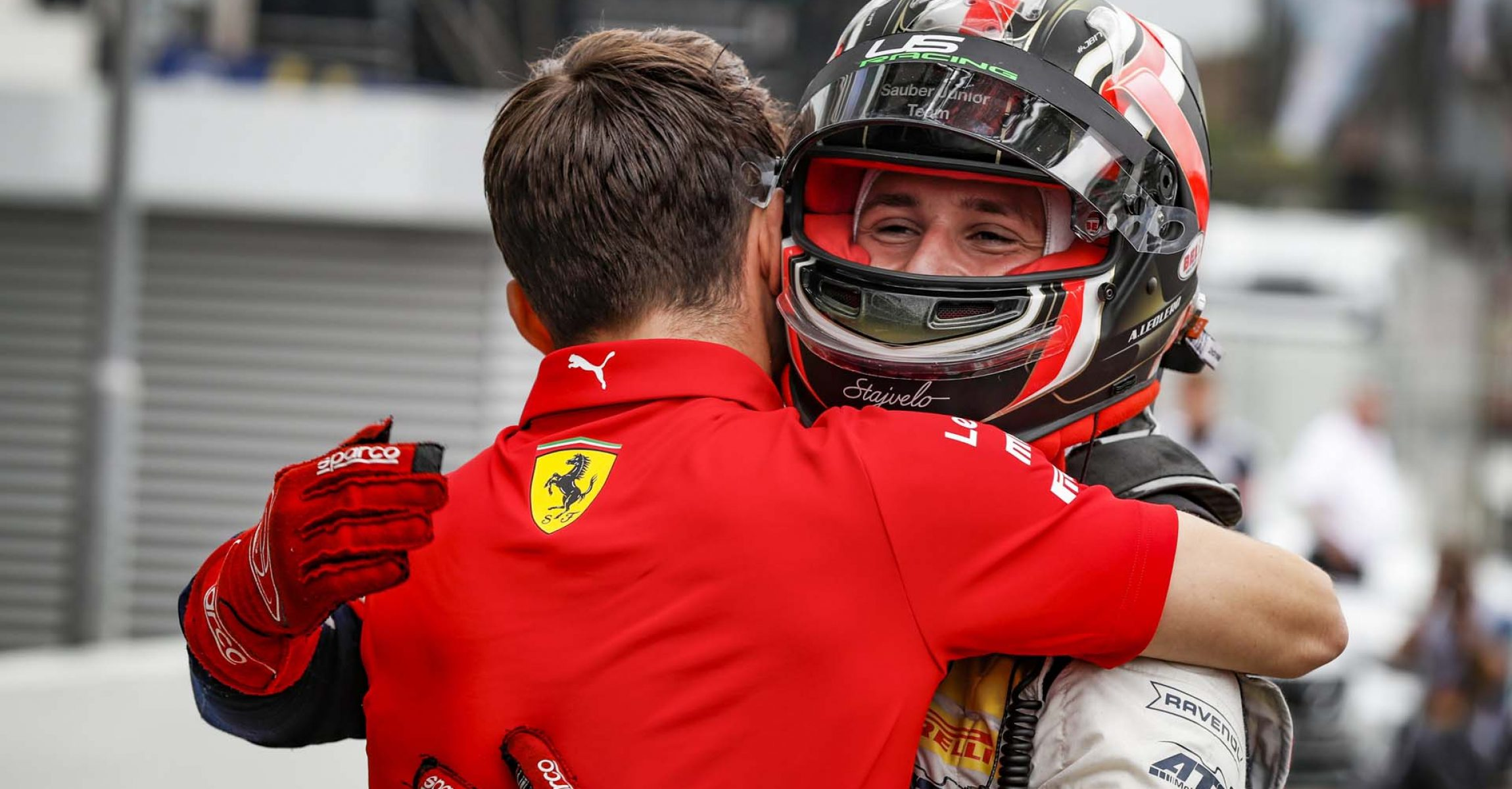 ADAC F4 Germany Championship: LECLERC Arthur of the Sauber Junior Team, celebrating victory with his brother LECLERC Charles (mco), during the 2019 Formula One World Championship, Germany Grand Prix from July 25 to 28, in Hockenheim, Germany - Photo Florent Gooden / DPPI