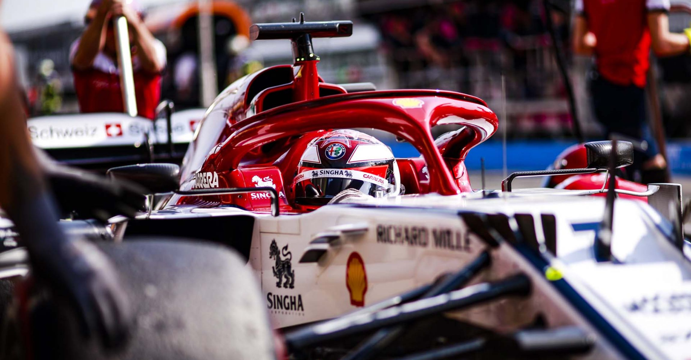 07 RAIKKONEN Räikkönen Kimi (fin), Alfa Romeo Racing C38, action during the 2019 Formula One World Championship, Germany Grand Prix from July 25 to 28, in Hockenheim, Germany - Photo Xavi Bonilla / DPPI