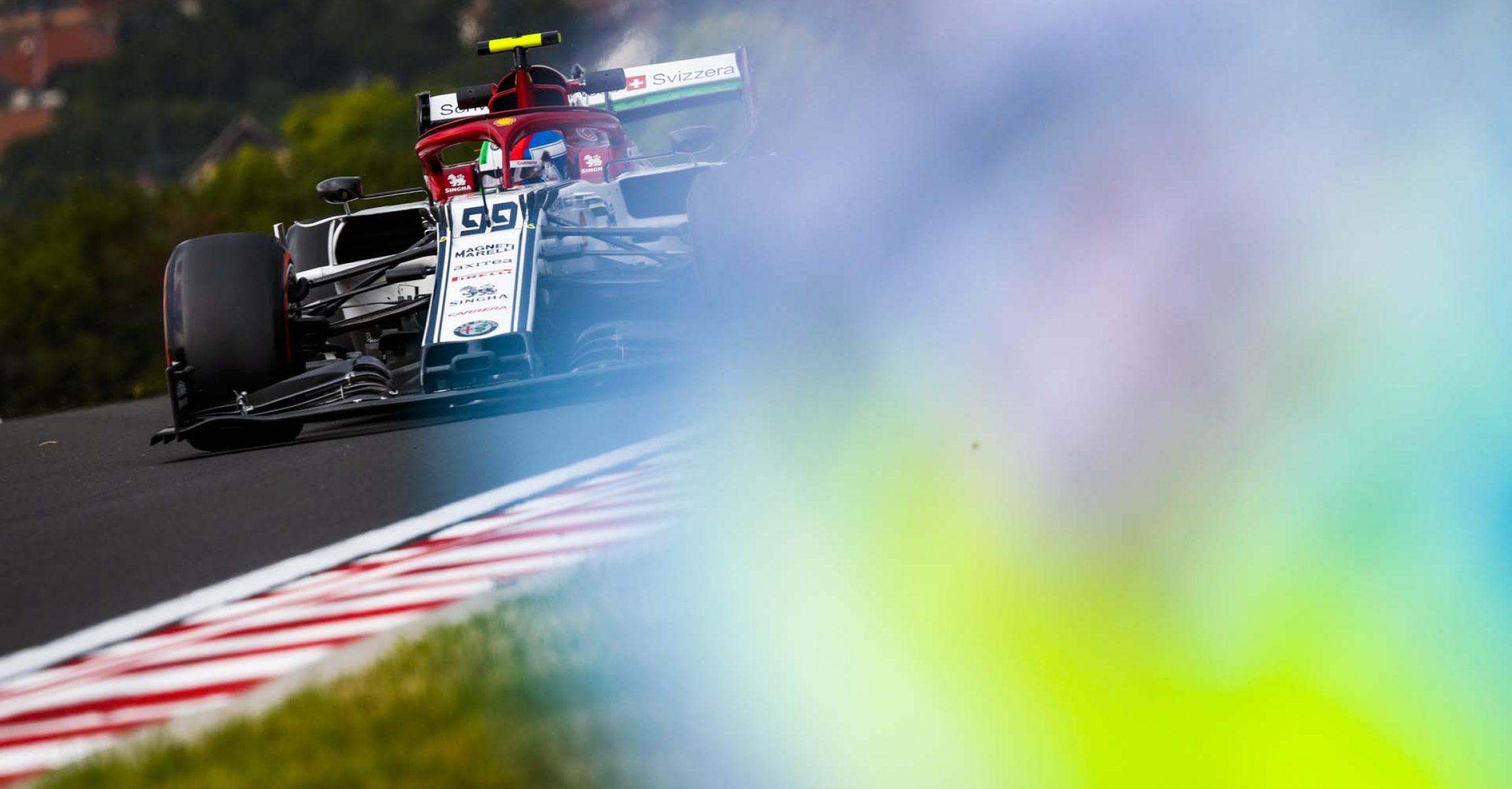 GIOVINAZZI Antonio (ita), Alfa Romeo Racing C38, action during the 2019 Formula One World Championship, Grand Prix of Hungary from august 1 to 4, Hungaroring, Budapest - Photo Florent Gooden / DPPI