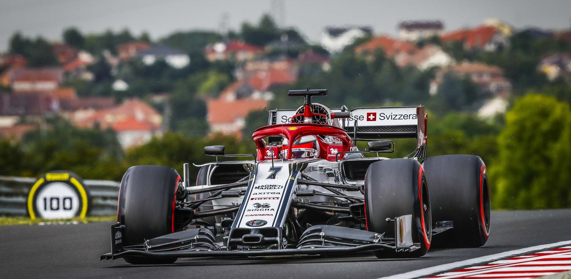 07 RAIKKONEN Kimi Räikkönen (fin), Alfa Romeo Racing C38, action during the 2019 Formula One World Championship, Grand Prix of Hungary from august 1 to 4, Hungaroring, Budapest - Photo Florent Gooden / DPPI