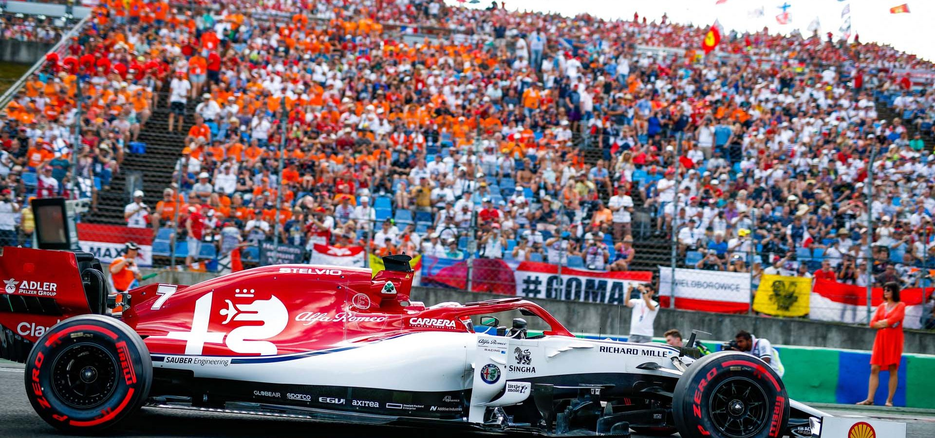 07 RAIKKONEN Kimi (fin), Alfa Romeo Racing C38, action during the 2019 Formula One World Championship, Grand Prix of Hungary from august 1 to 4, Hungaroring, Budapest - Photo Florent Gooden / DPPI