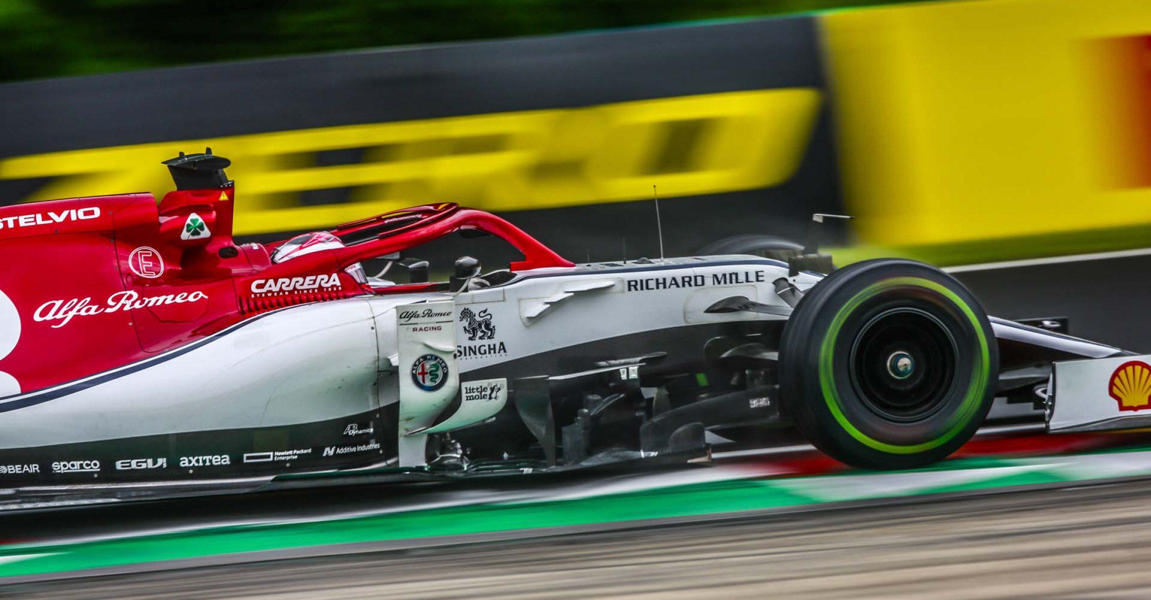 07 RAIKKONEN Kimi Räikkönen (fin), Alfa Romeo Racing C38, action during the 2019 Formula One World Championship, Grand Prix of Hungary from august 1 to 4, Hungaroring, Budapest - Photo Xavi Bonilla / DPPI