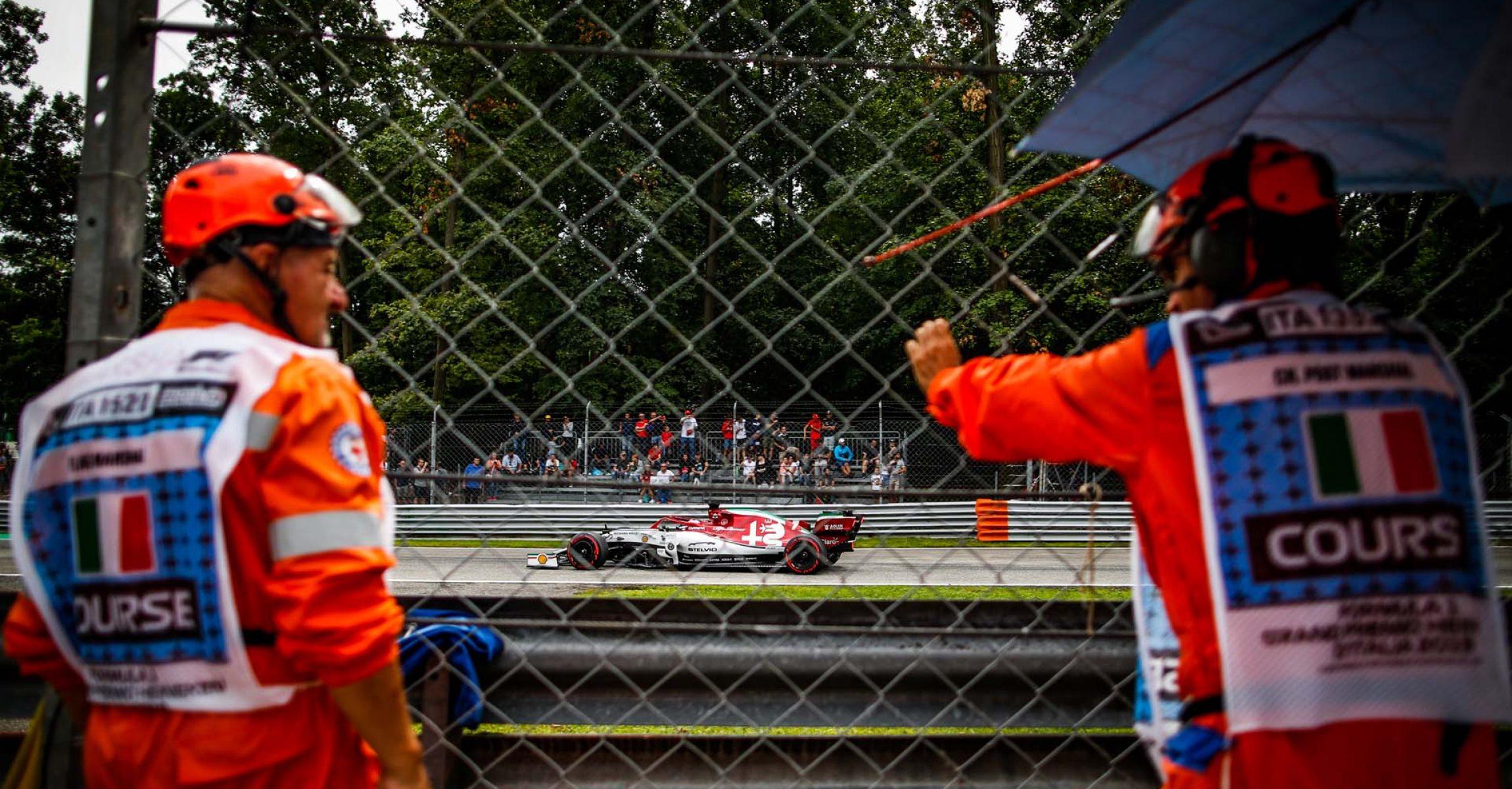 07 RAIKKONEN Kimi Räikkönen (fin), Alfa Romeo Racing C38, action during 2019 Formula 1 FIA world championship, Italy Grand Prix, at Monza from september 5 to 9 - Photo Florent Gooden / DPPI