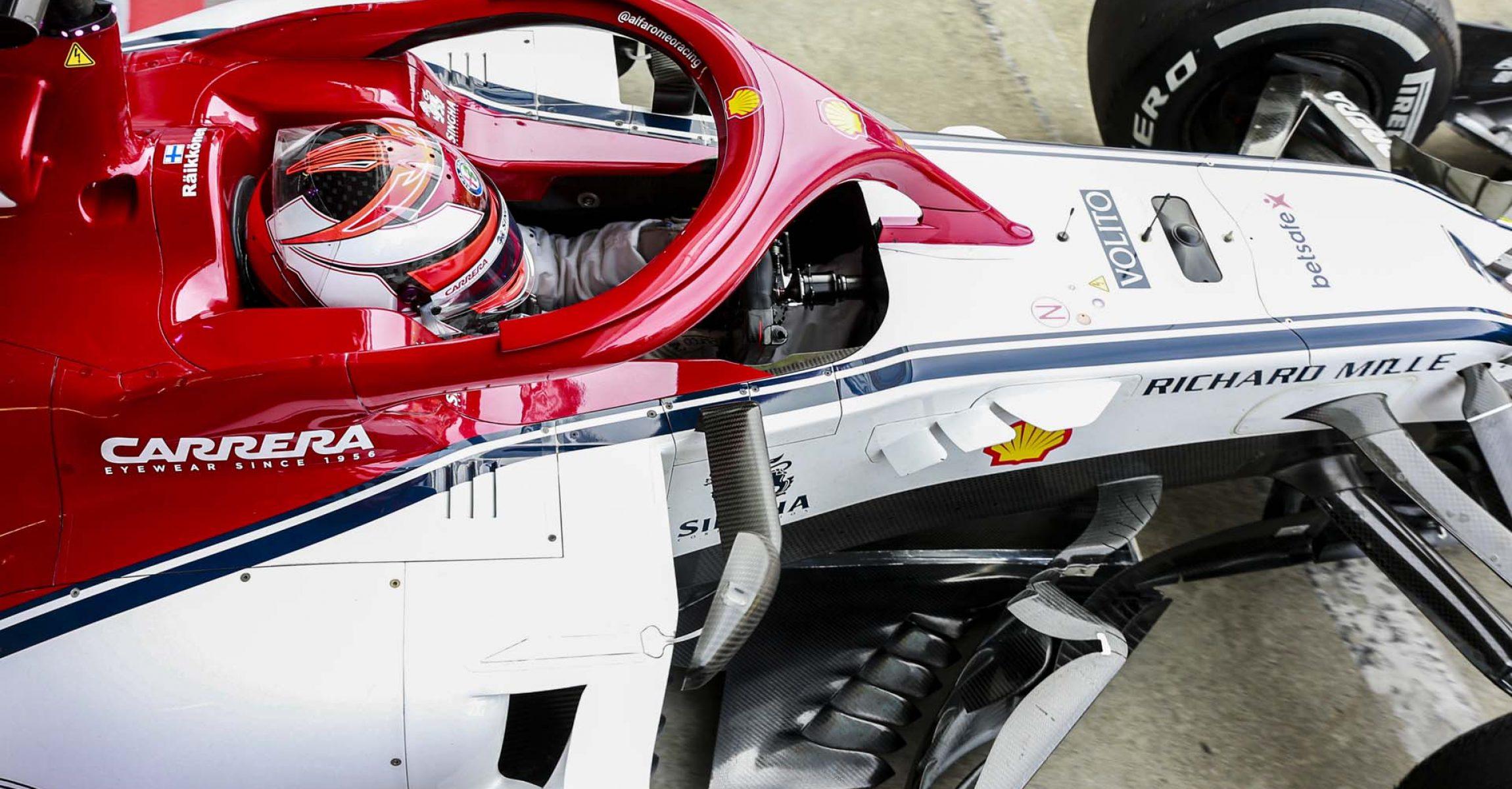 07 RAIKKONEN Kimi Räikkönen (fin), Alfa Romeo Racing C38, action during 2019 Formula 1 FIA world championship, Italy Grand Prix, at Monza from september 5 to 9 - Photo Xavi Bonilla / DPPI