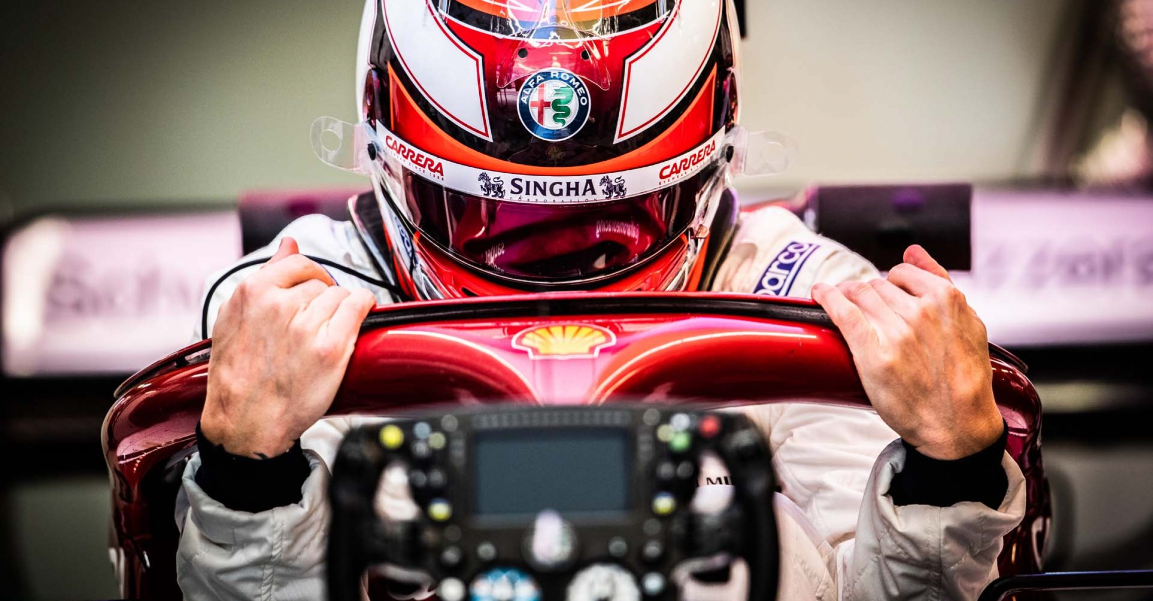 RAIKKONEN Kimi (fin), Alfa Romeo Racing C38, portrait during the 2019 Formula One World Championship, Russia Grand Prix from September 26 to 29 in Sotchi, Russia - Photo Antonin Vincent / DPPI