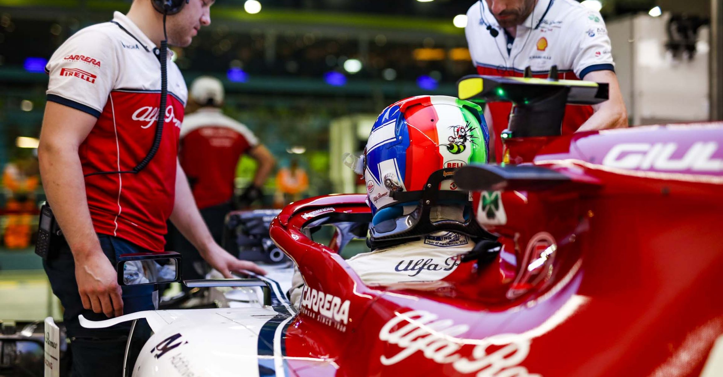 GIOVINAZZI Antonio (ita), Alfa Romeo Racing C38, portrait during the 2019 Formula One World Championship, Singapore Grand Prix from September 19 to 22 in Singapour - Photo Florent Gooden / DPPI