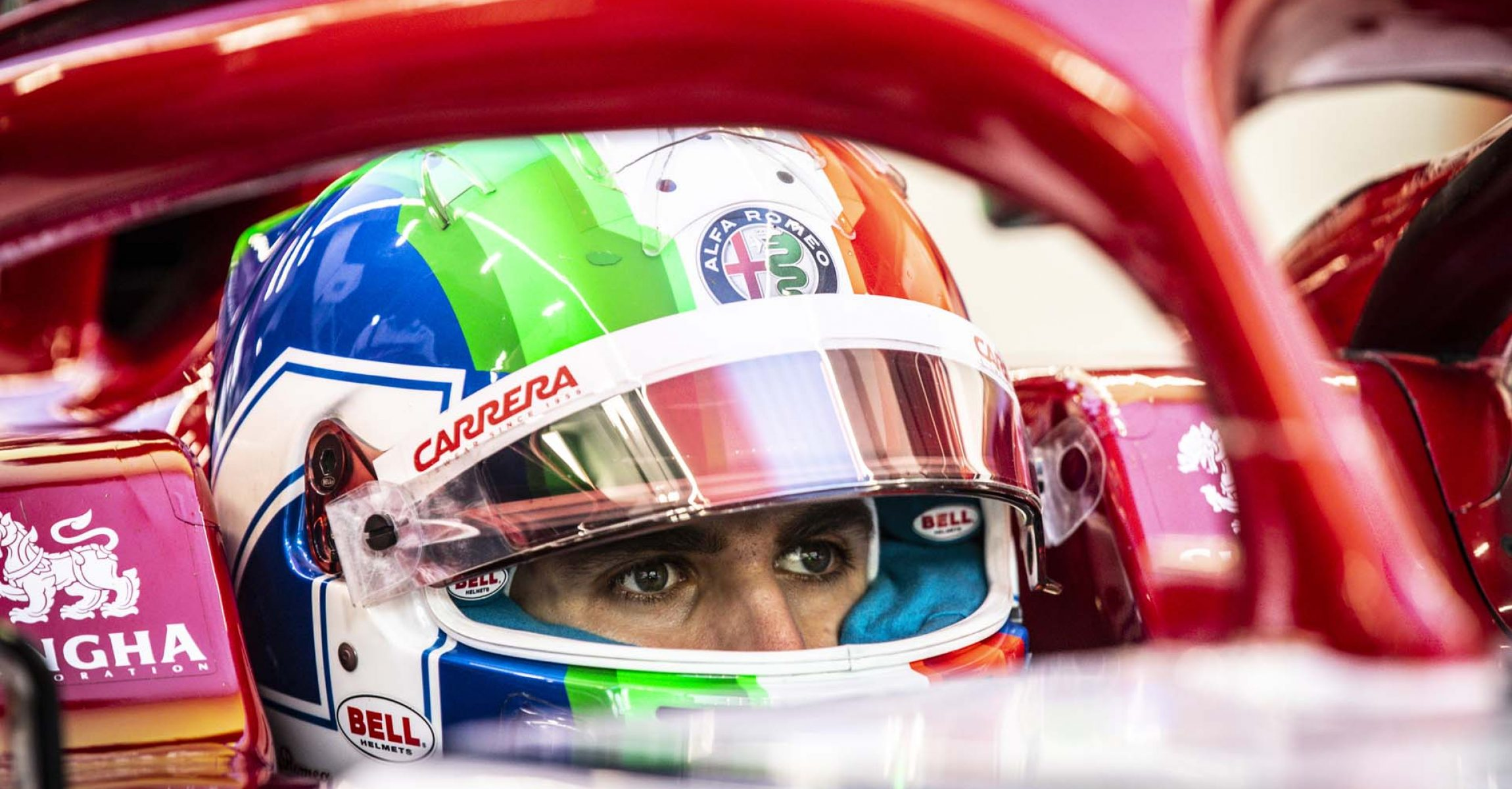 GIOVINAZZI Antonio (ita), Alfa Romeo Racing C38, portrait during the 2019 Formula One World Championship, Singapore Grand Prix from September 19 to 22 in Singapour - Photo Florent Gooden / DPPI