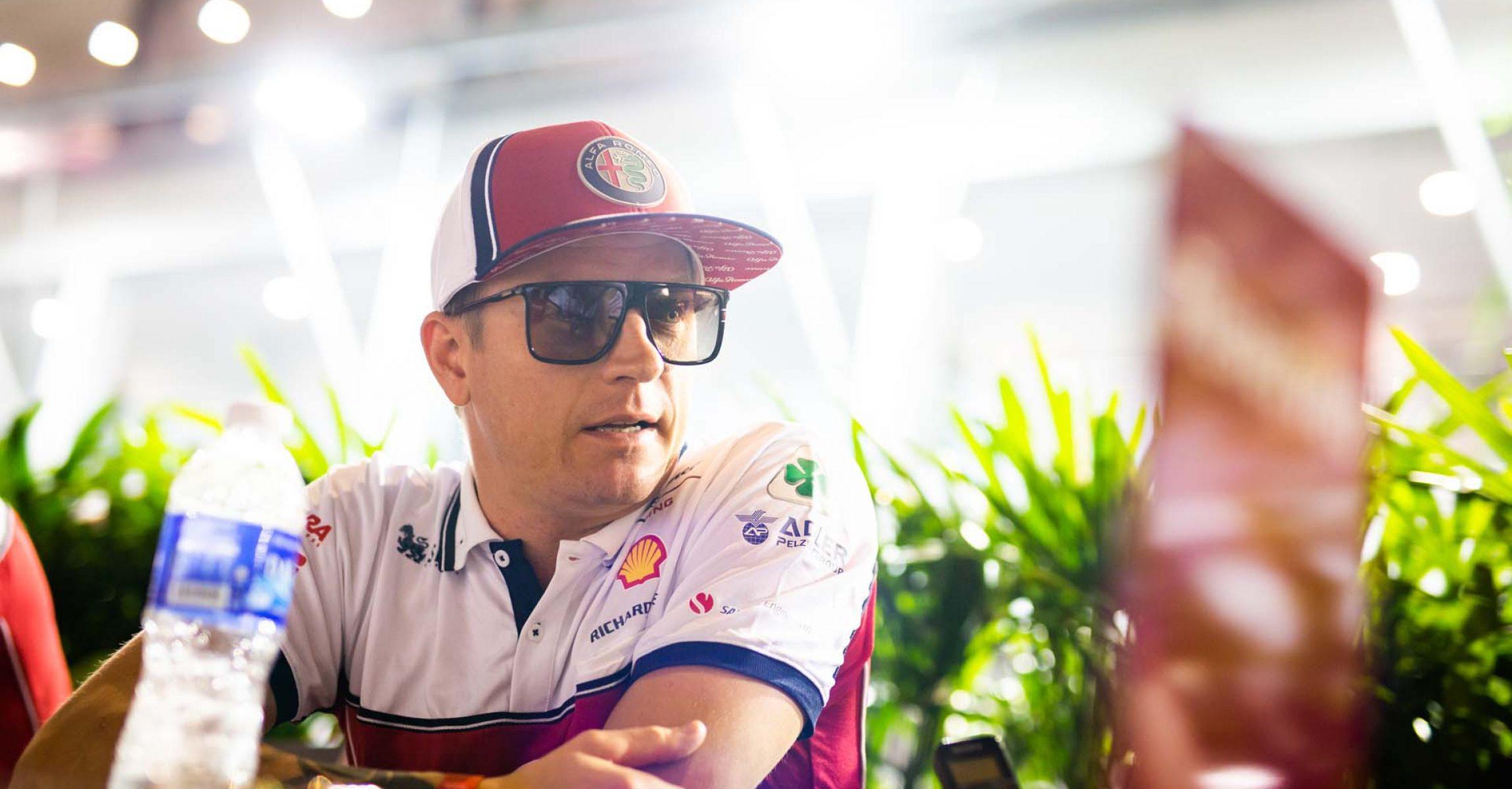 RAIKKONEN Kimi Räikkönen (fin), Alfa Romeo Racing C38, portrait during the 2019 Formula One World Championship, Singapore Grand Prix from September 19 to 22 in Singapour - Photo Antonin Vincent / DPPI