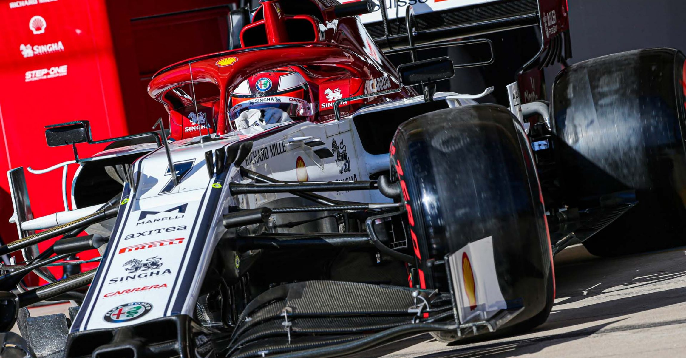 07 RAIKKONEN Kimi Räikkönen (fin), Alfa Romeo Racing C38, action during the 2019 Formula One World Championship, United States of America Grand Prix from november 1 to 3 in Austin, Texas, USA - Photo Francois Flamand / DPPI