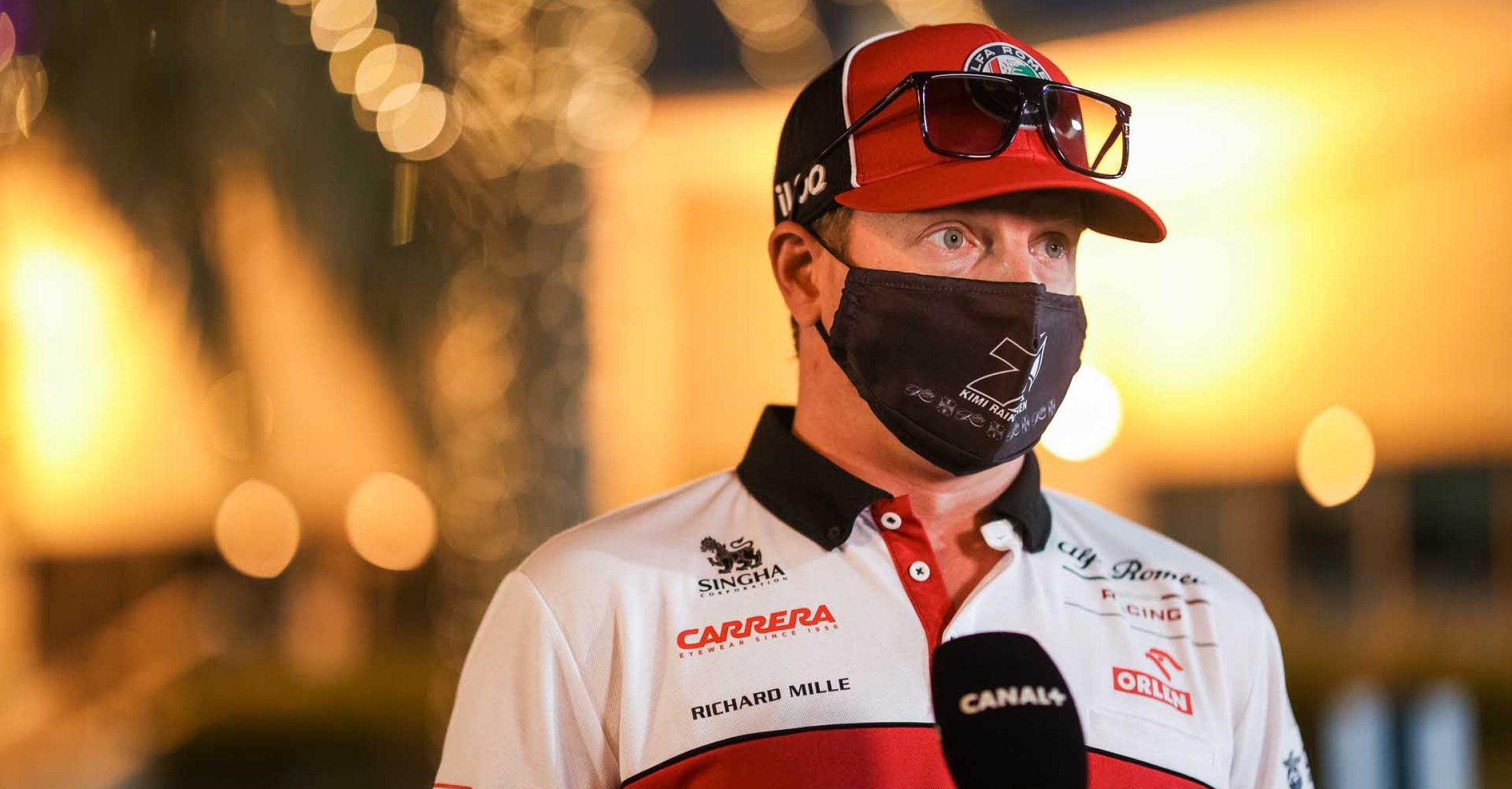 RAIKKONEN Kimi Räikkönen (fin), Alfa Romeo Racing ORLEN C39, portrait during the Formula 1 Rolex Sakhir Grand Prix 2020, from December 4 to 6, 2020 on the Bahrain International Circuit, in Sakhir, Bahrain - Photo Antonin Vincent / DPPI