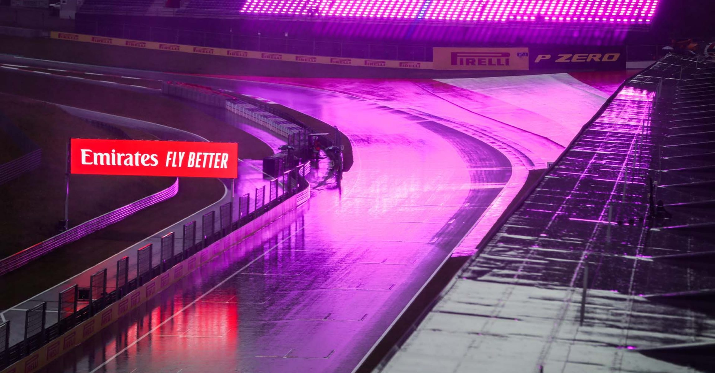 track under the rain, pluie, during the Formula 1 Pirelli Grosser Preis der Steiermark 2020, Styrian Grand Prix from July 10 to 12, 2020 on the Red Bull Ring, in Spielberg, Austria - Photo Antonin Vincent / DPPI rain
