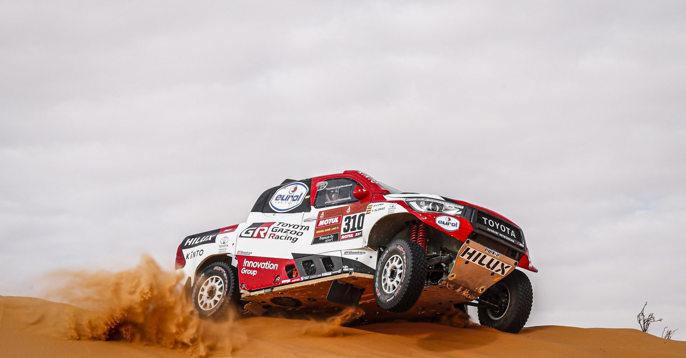 310 Alonso Fernando (esp), Coma Marc (esp), Toyota Hilux, Toyota Gazoo Ragin, Auto, Car, action during Stage 6 of the Dakar 2020 between Ha'il and Riyadh, 830 km - SS 478 km, in Saudi Arabia, on January 10, 2020 - Photo DPPI