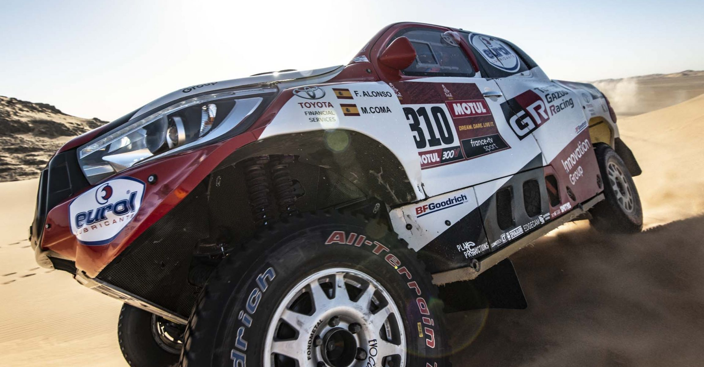 310 Alonso Fernando (esp), Coma Marc (esp), Toyota Hilux, Toyota Gazoo Ragin, Auto, Car, action during Stage 8 of the Dakar 2020 between Wadi Al-Dawasir and Wadi Al-Dawasir, 713 km - SS 474 km, in Saudi Arabia, on January 13, 2020 - Photo Charly Lopez / ASO