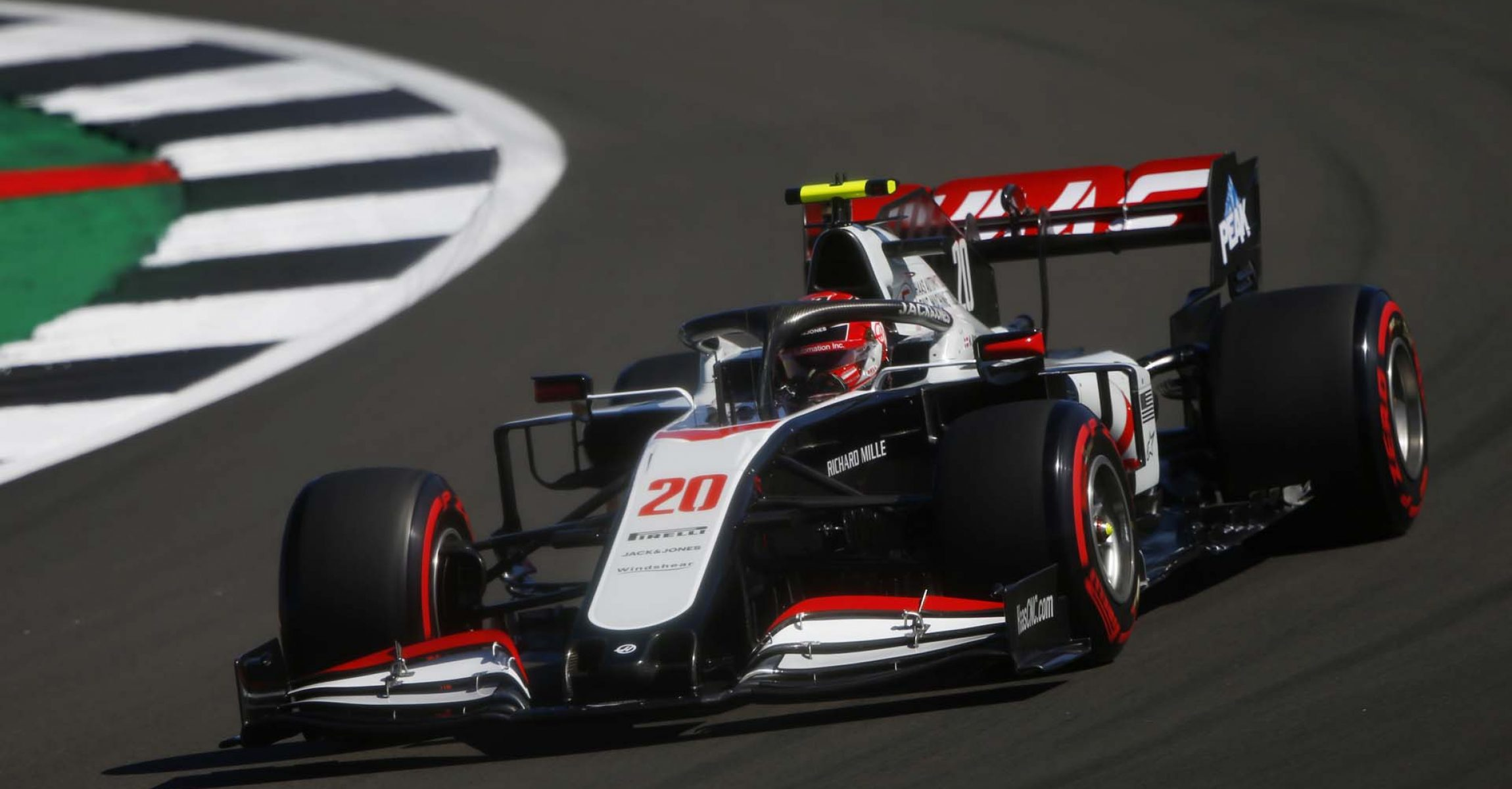 SILVERSTONE, UNITED KINGDOM - AUGUST 07: Kevin Magnussen, Haas VF-20 during the 70th Anniversary GP at Silverstone on Friday August 07, 2020 in Northamptonshire, United Kingdom. (Photo by Andy Hone / LAT Images)