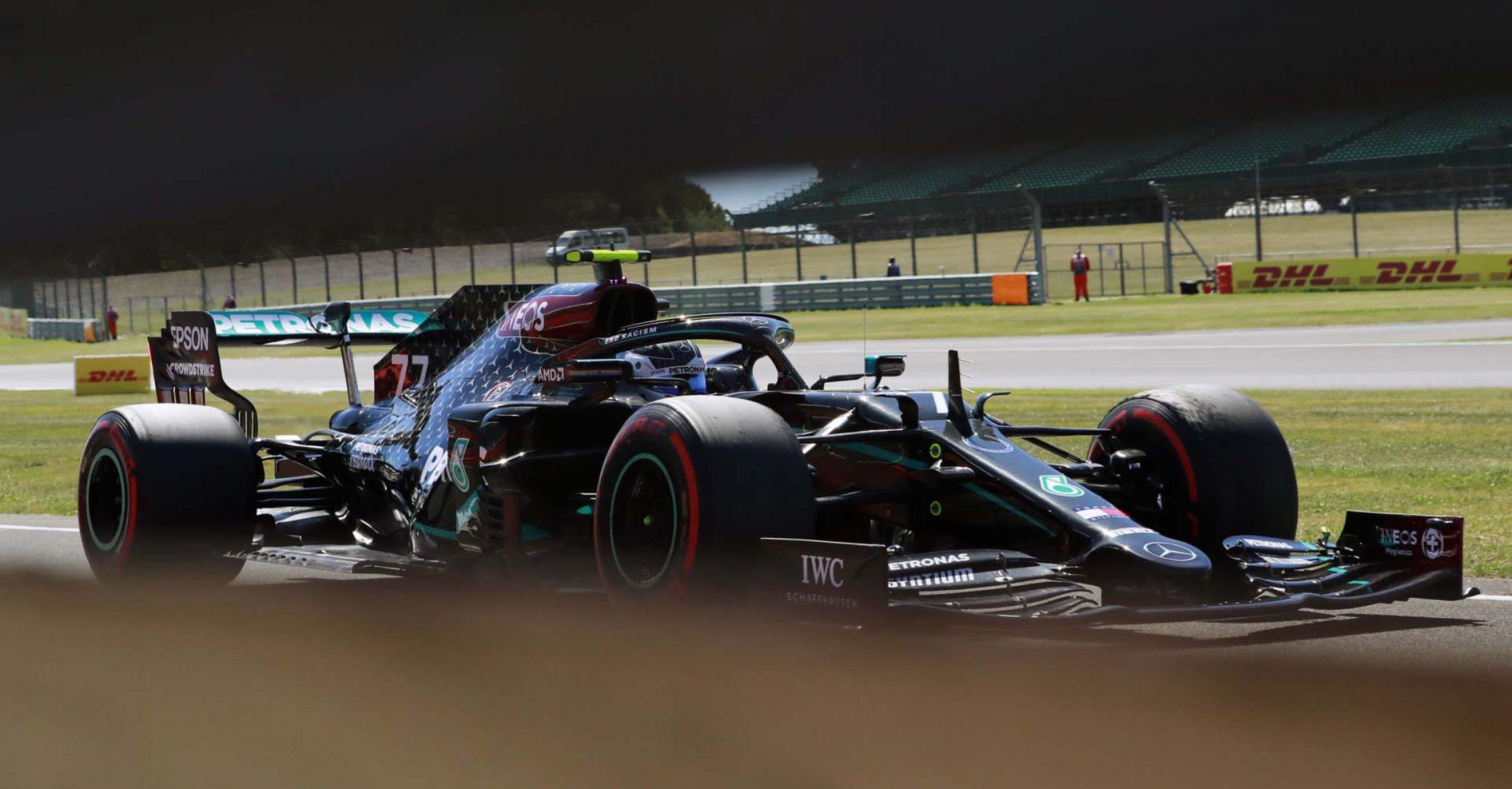2020 70th Anniversary Grand Prix, Friday - LAT Images Valtteri Bottas Mercedes