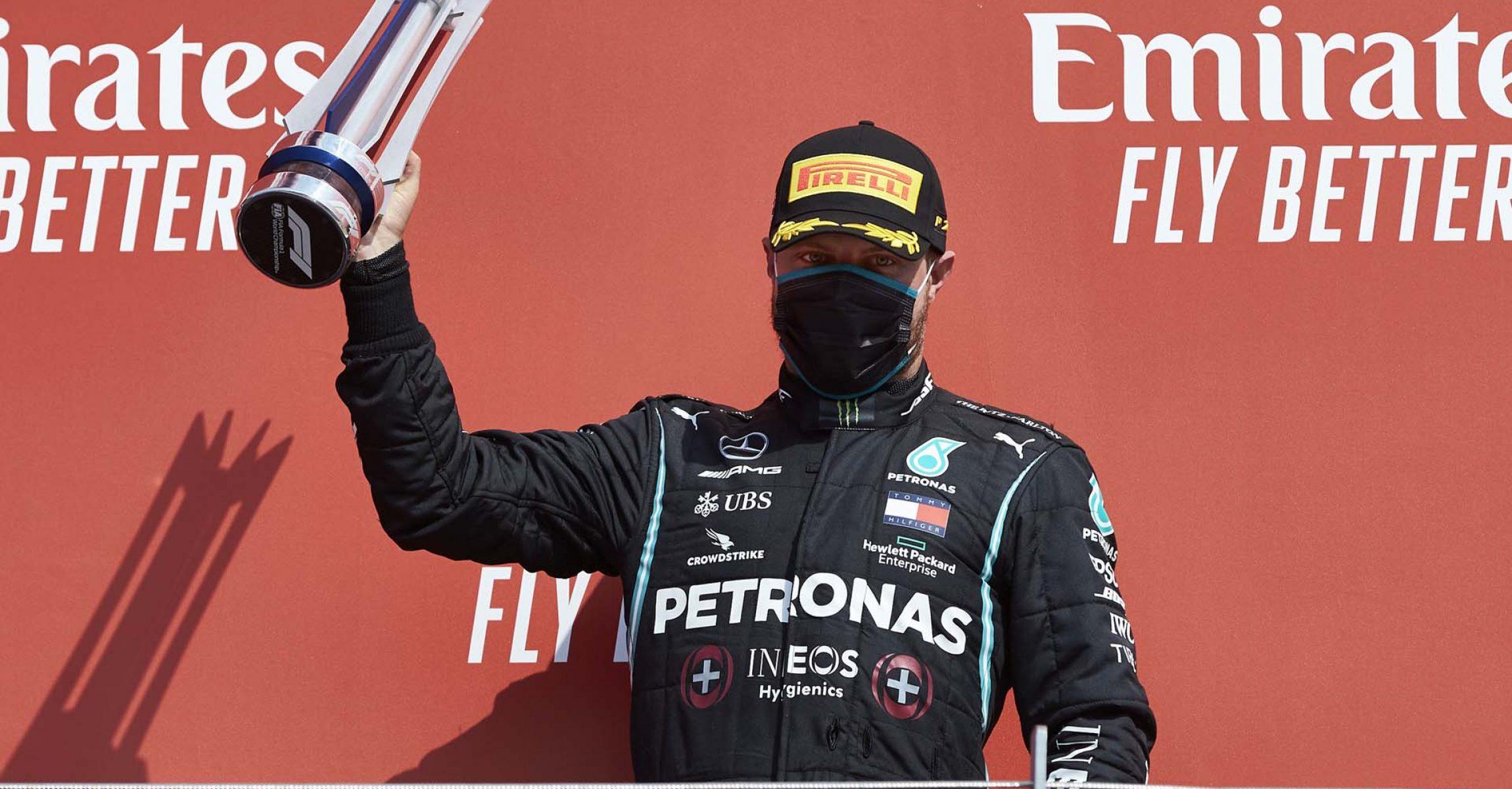 2020 70th Anniversary Grand Prix, Sunday - Steve Etherington Valtteri Bottas Mercedes