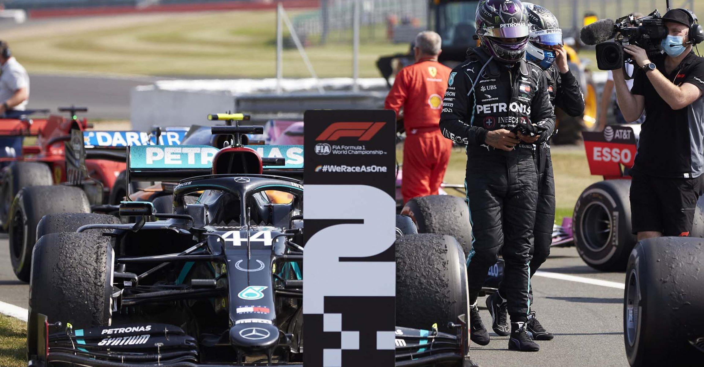 2020 70th Anniversary Grand Prix, Sunday - Steve Etherington Lewis Hamilton Mercedes