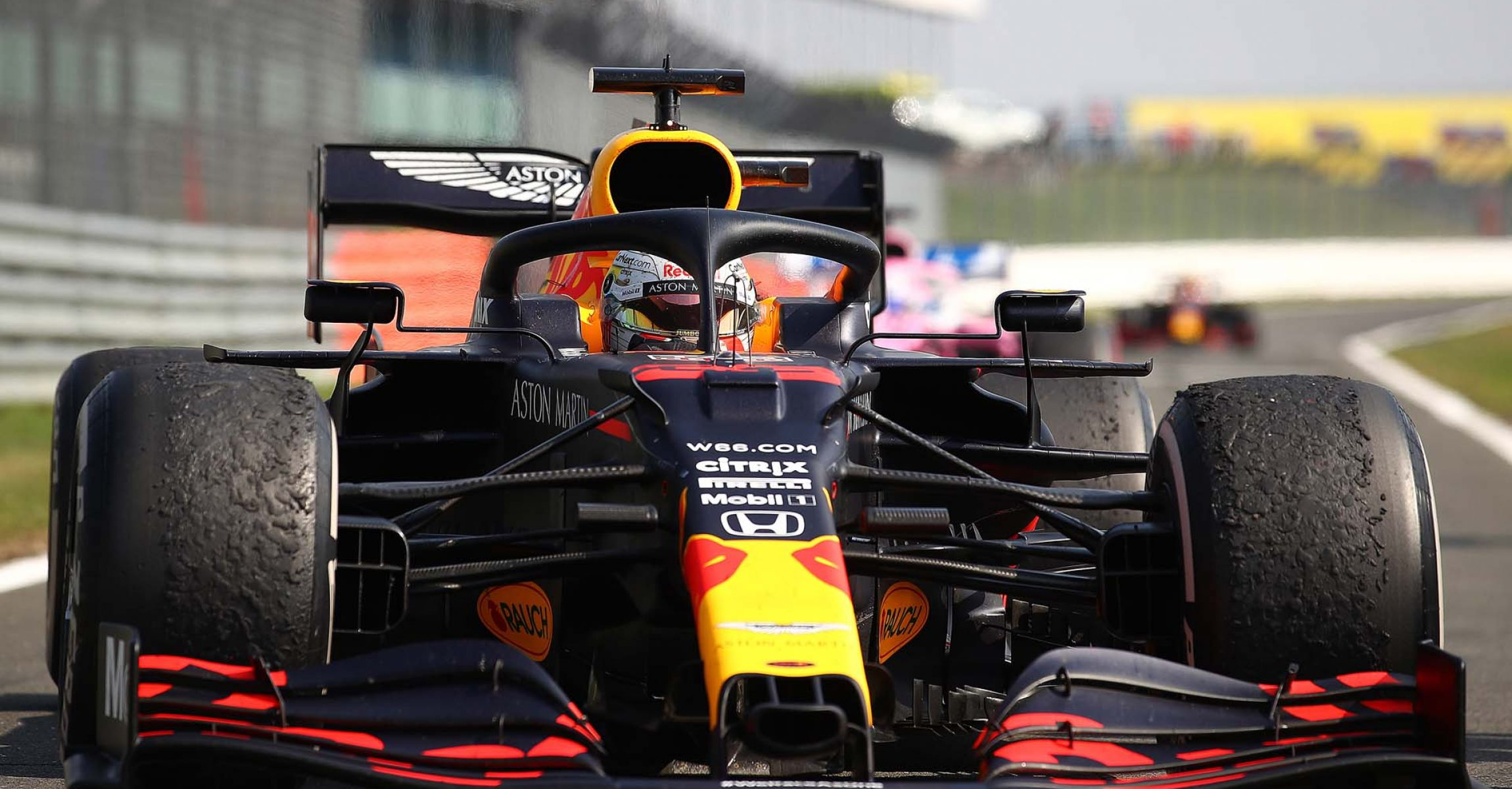 NORTHAMPTON, ENGLAND - AUGUST 09: Race winner Max Verstappen of Netherlands and Red Bull Racing arrives in parc ferme during the F1 70th Anniversary Grand Prix at Silverstone on August 09, 2020 in Northampton, England. (Photo by Bryn Lennon/Getty Images)