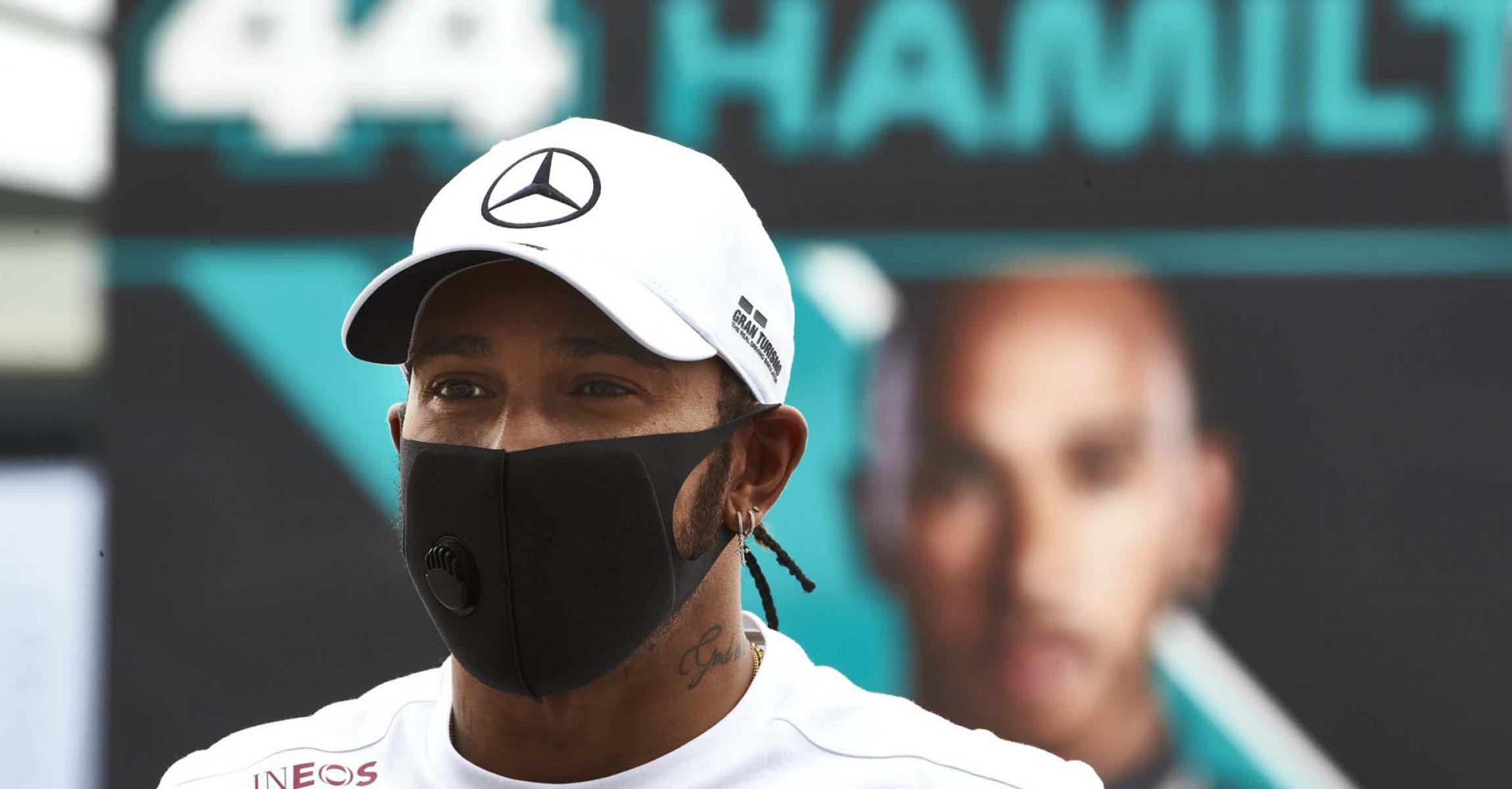 2020 70th Anniversary Grand Prix, Thursday - Steve Etherington Lewis Hamilton Mercedes
