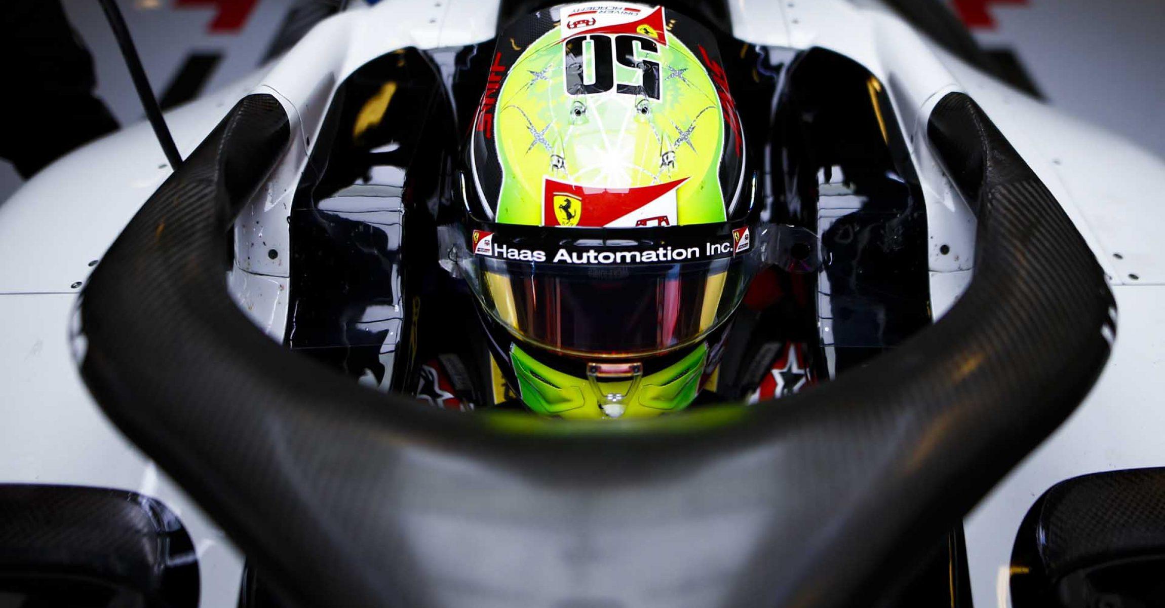 YAS MARINA CIRCUIT, UNITED ARAB EMIRATES - DECEMBER 11: Mick Schumacher, Haas F1 during the Abu Dhabi GP at Yas Marina Circuit on Friday December 11, 2020 in Abu Dhabi, United Arab Emirates. (Photo by Andy Hone / LAT Images)