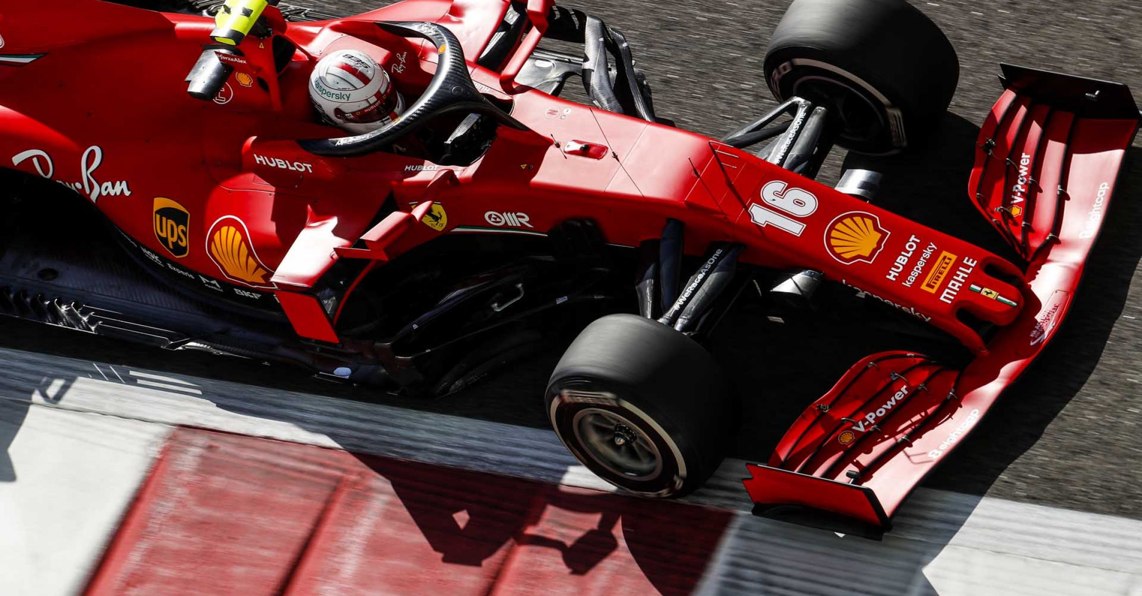 YAS MARINA CIRCUIT, UNITED ARAB EMIRATES - DECEMBER 11: Charles Leclerc, Ferrari SF1000 during the Abu Dhabi GP at Yas Marina Circuit on Friday December 11, 2020 in Abu Dhabi, United Arab Emirates. (Photo by Zak Mauger / LAT Images)
