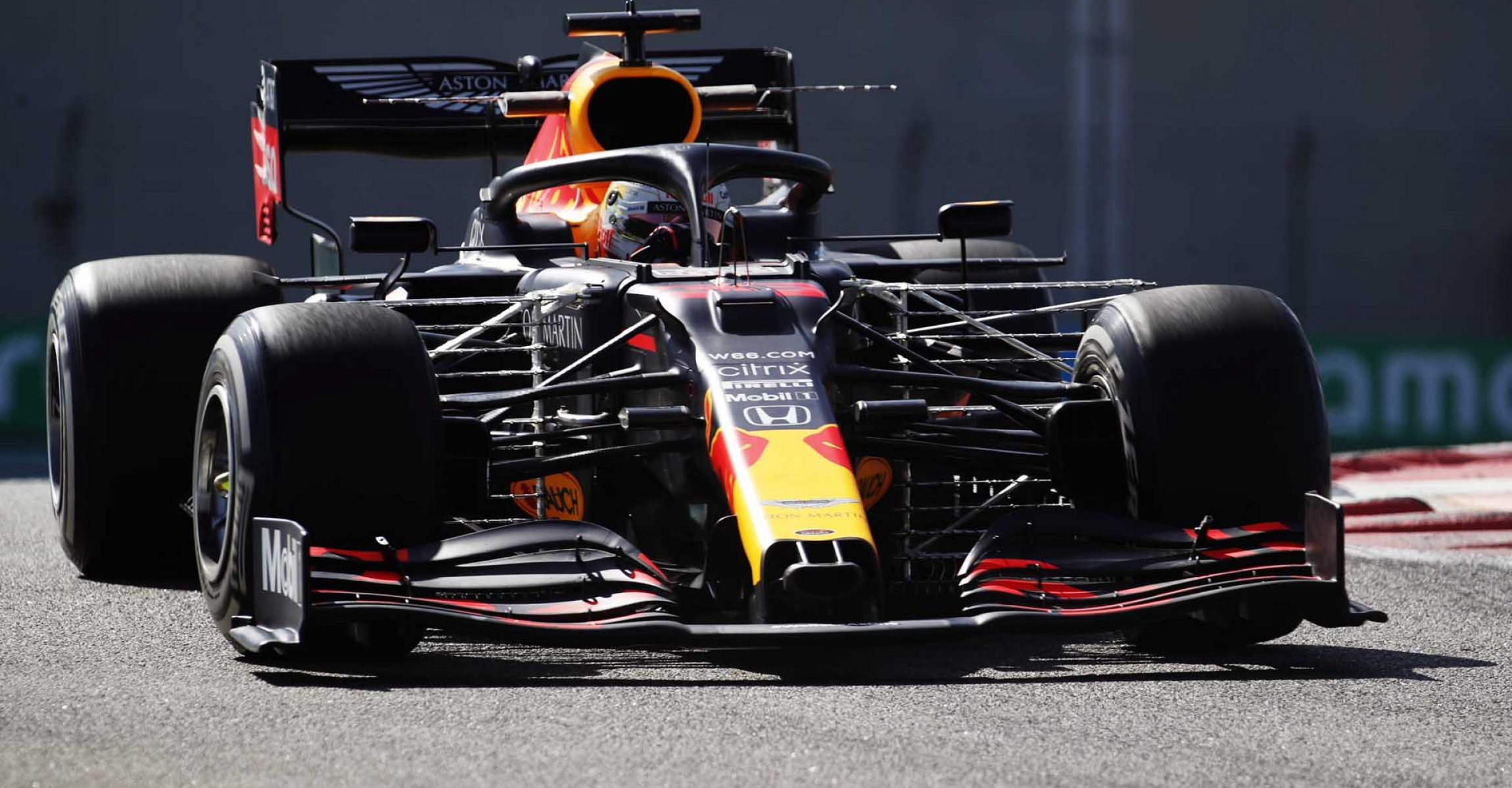ABU DHABI, UNITED ARAB EMIRATES - DECEMBER 11: Max Verstappen of the Netherlands driving the (33) Aston Martin Red Bull Racing RB16 on track during practice ahead of the F1 Grand Prix of Abu Dhabi at Yas Marina Circuit on December 11, 2020 in Abu Dhabi, United Arab Emirates. (Photo by Hamad I Mohammed - Pool/Getty Images)