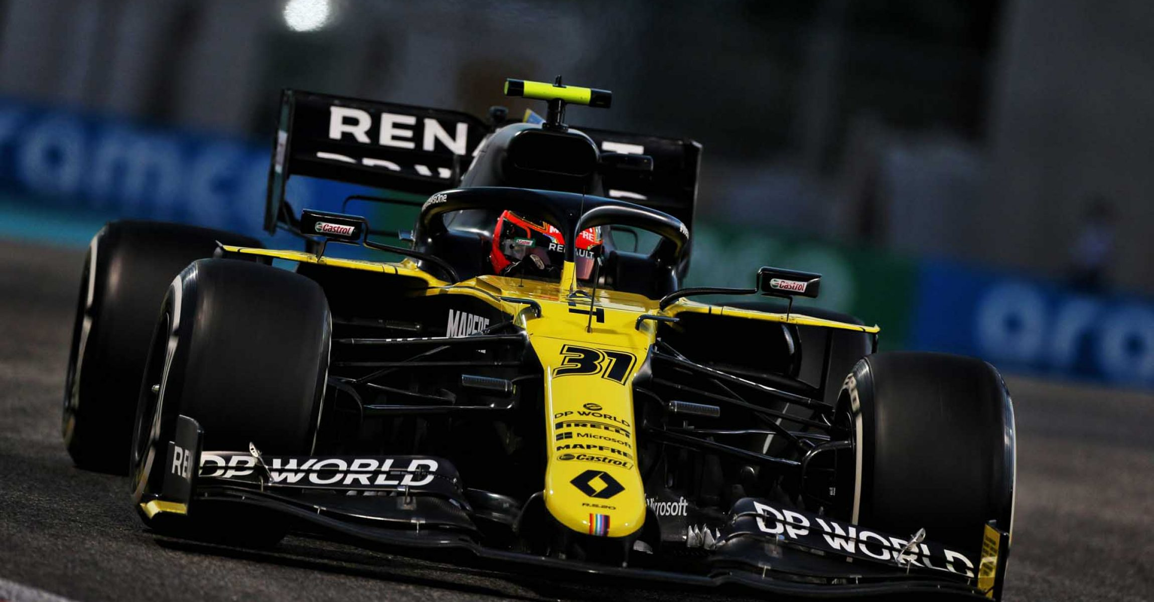Esteban Ocon (FRA) Renault F1 Team RS20. Abu Dhabi Grand Prix, Friday 11th December 2020. Yas Marina Circuit, Abu Dhabi, UAE.