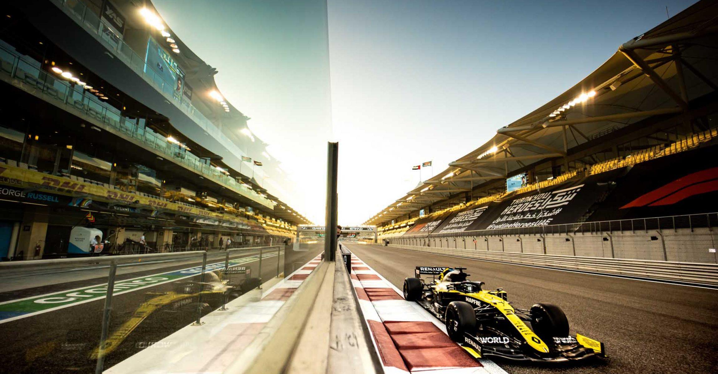 Daniel Ricciardo (AUS) Renault F1 Team RS20. Abu Dhabi Grand Prix, Friday 11th December 2020. Yas Marina Circuit, Abu Dhabi, UAE.
