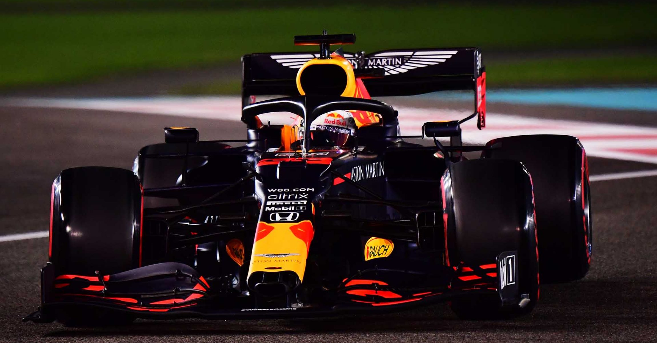 ABU DHABI, UNITED ARAB EMIRATES - DECEMBER 12: Max Verstappen of the Netherlands driving the (33) Aston Martin Red Bull Racing RB16 on track during qualifying ahead of the F1 Grand Prix of Abu Dhabi at Yas Marina Circuit on December 12, 2020 in Abu Dhabi, United Arab Emirates. (Photo by Giuseppe Cacace - Pool/Getty Images)