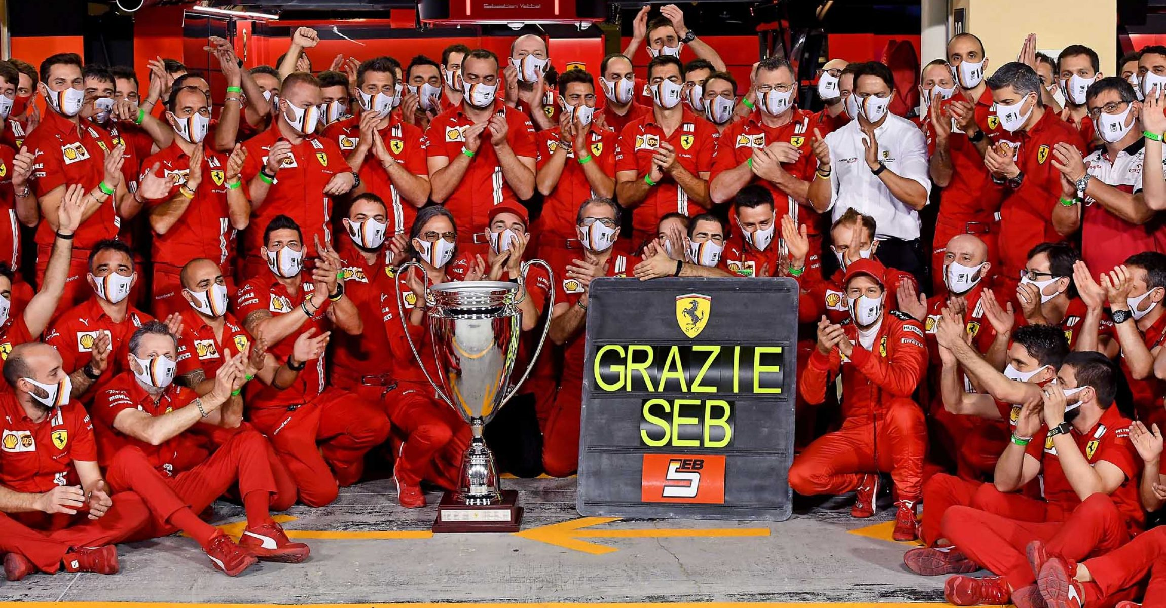 GP ABU DHABI  F1/2020 - DOMENICA  13/12/2020    credit: @Scuderia Ferrari Press Office Grazie Seb Sebastian Vettel Ferrari
