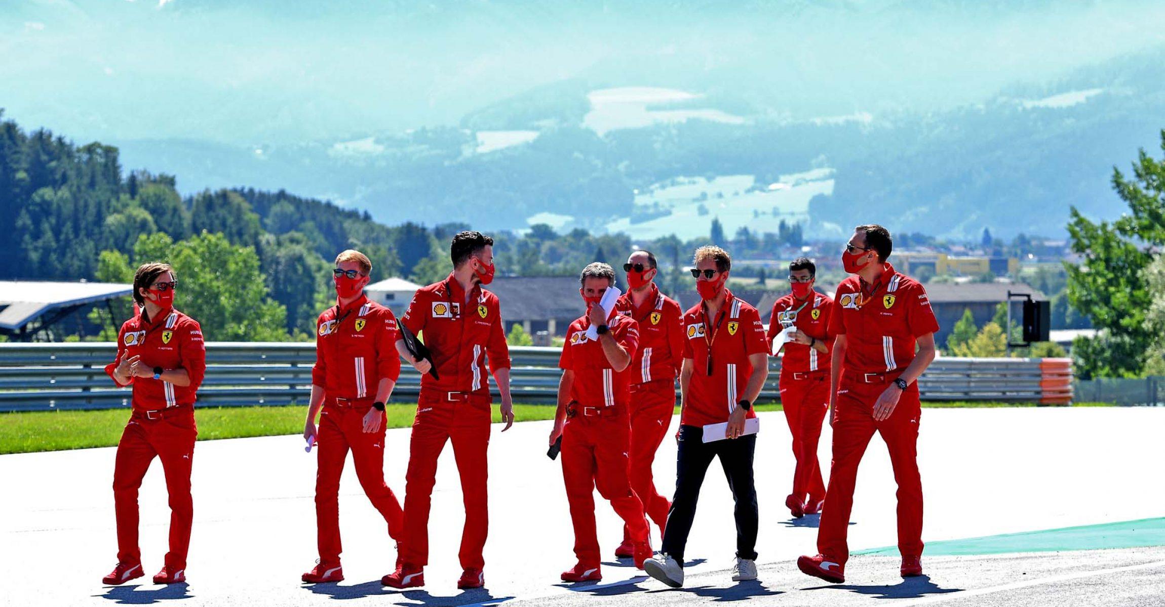 GP AUSTRIA F1/2020 - GIOVEDÌ 02/07/2020 credit: @Scuderia Ferrari Press Office track walk Sebastian Vettel