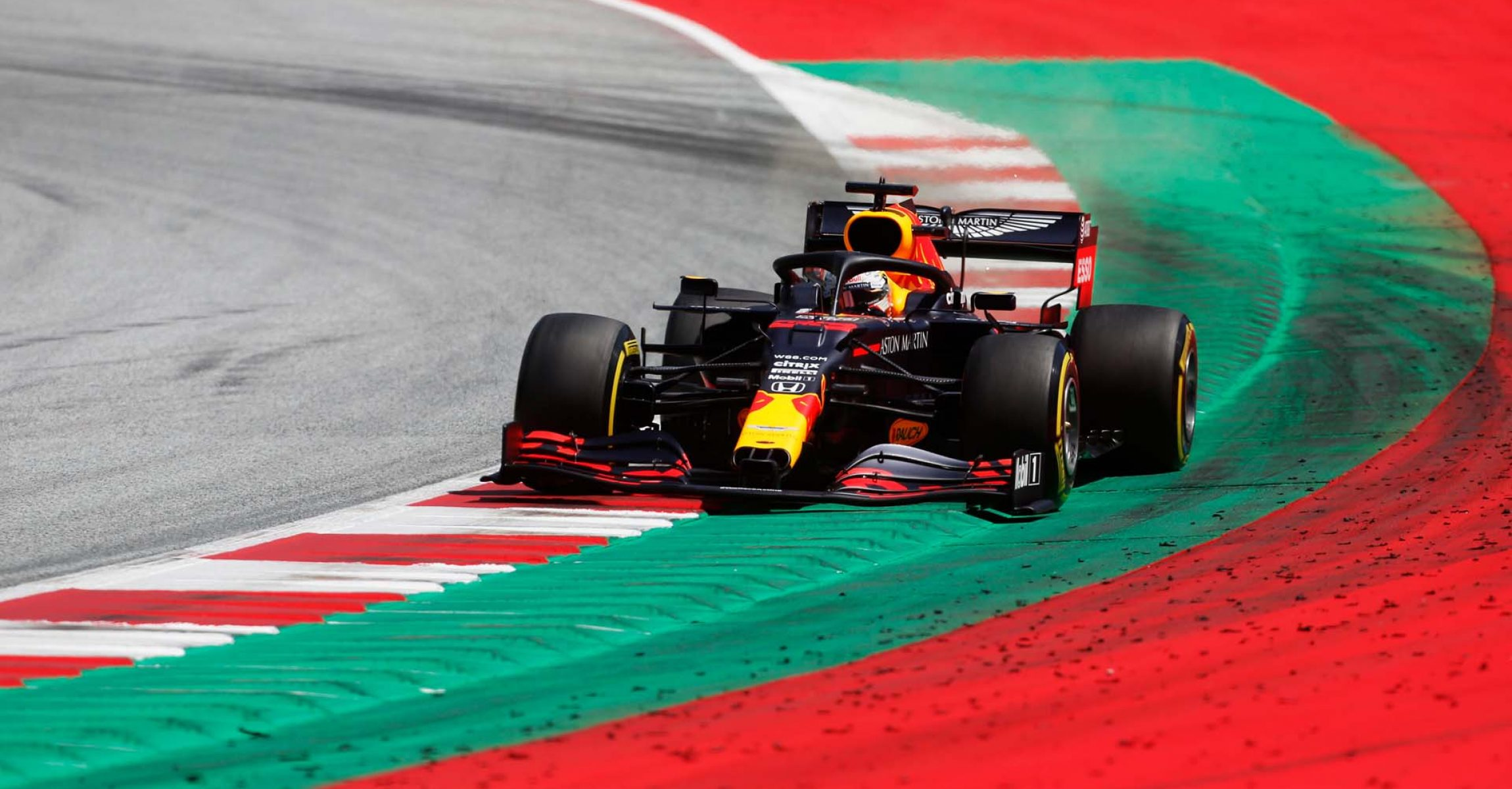 SPIELBERG, AUSTRIA - JULY 04: Max Verstappen of the Netherlands driving the (33) Aston Martin Red Bull Racing RB16 on track during final practice for the Formula One Grand Prix of Austria at Red Bull Ring on July 04, 2020 in Spielberg, Austria. (Photo Darko Bandic/Pool via Getty Images) // Getty Images / Red Bull Content Pool // AP-24HB2FK6S2111 // Usage for editorial use only //