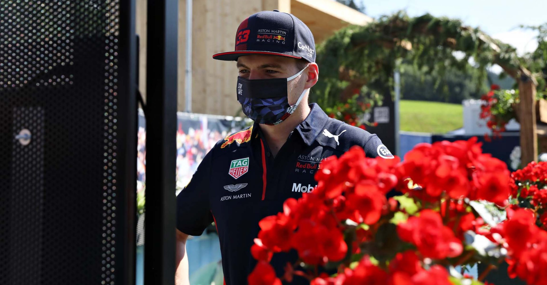 SPIELBERG, AUSTRIA - JULY 04: Max Verstappen of Netherlands and Red Bull Racing talks to fans on the Virtual Fan Walk before final practice for the Formula One Grand Prix of Austria at Red Bull Ring on July 04, 2020 in Spielberg, Austria. (Photo by Getty Images/Getty Images) // Getty Images / Red Bull Content Pool  // AP-24HBQKDPN2111 // Usage for editorial use only //