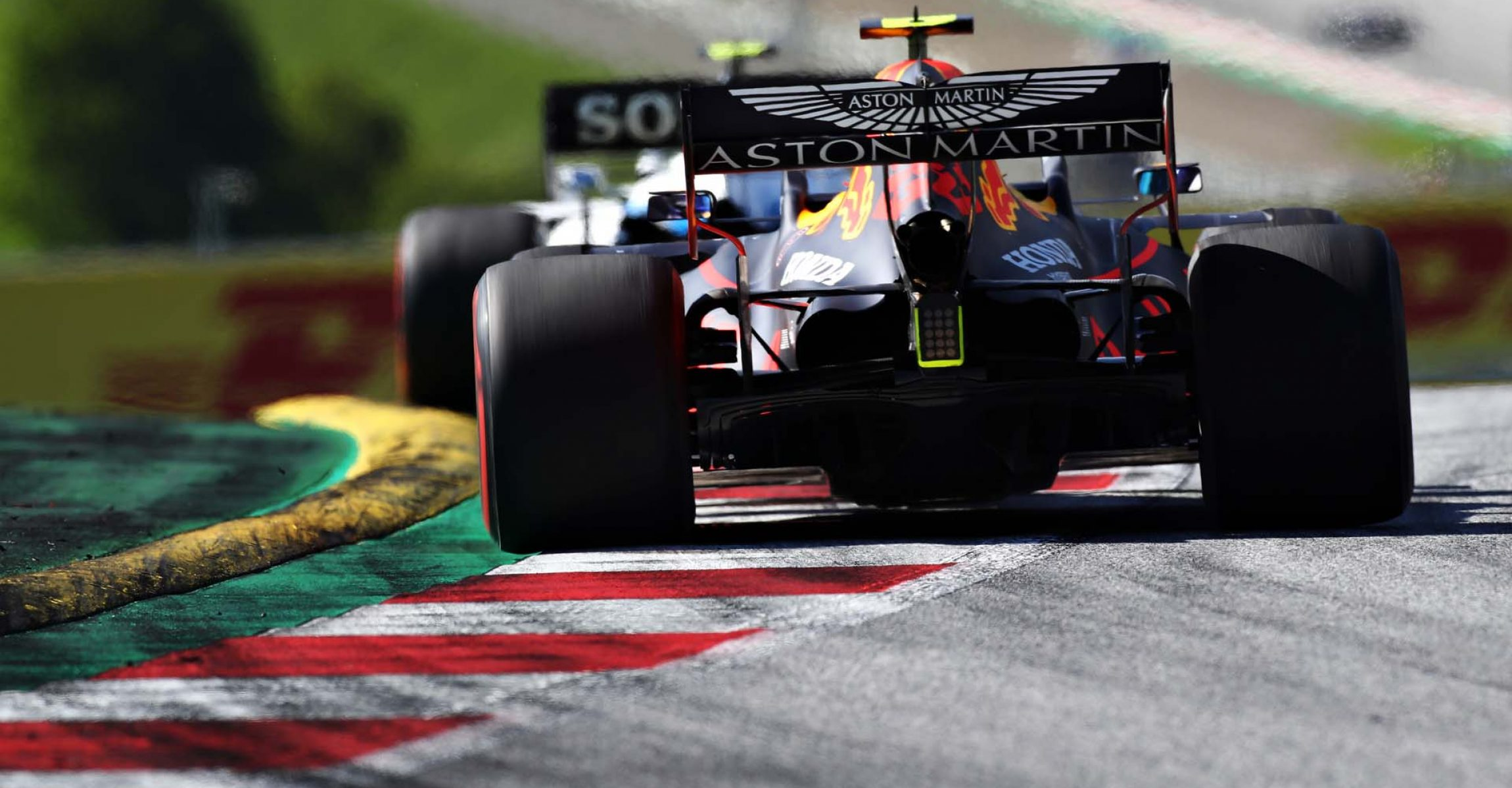 SPIELBERG, AUSTRIA - JULY 05: Alexander Albon of Thailand driving the (23) Aston Martin Red Bull Racing RB16 on track during the Formula One Grand Prix of Austria at Red Bull Ring on July 05, 2020 in Spielberg, Austria. (Photo by Mark Thompson/Getty Images) // Getty Images / Red Bull Content Pool // AP-24HPTSWF51W11 // Usage for editorial use only //