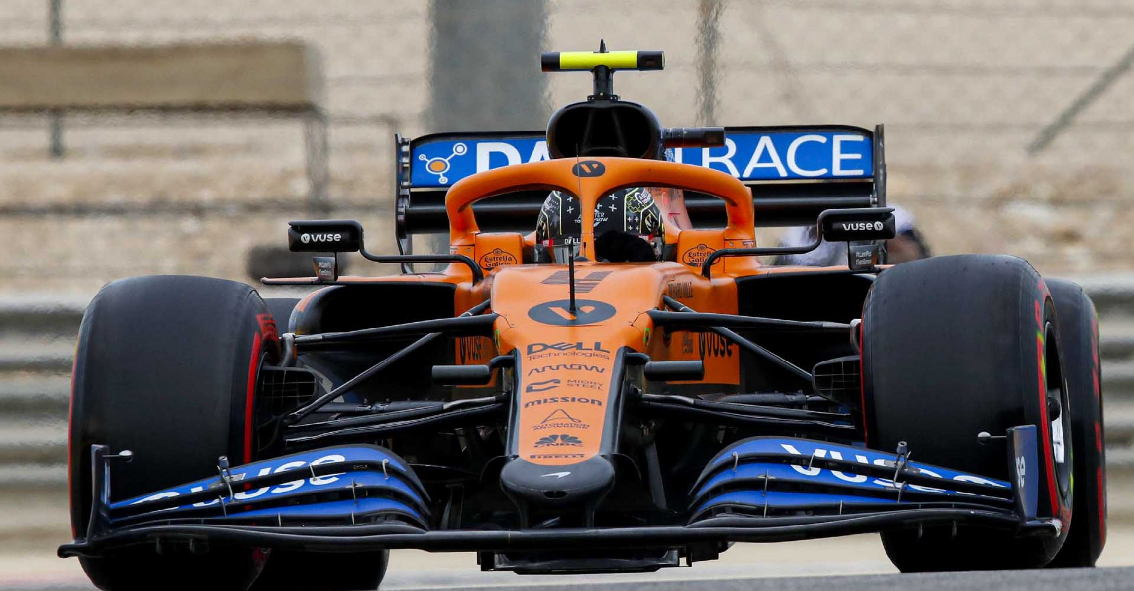 Lando Norris, McLaren MCL35, head-on action