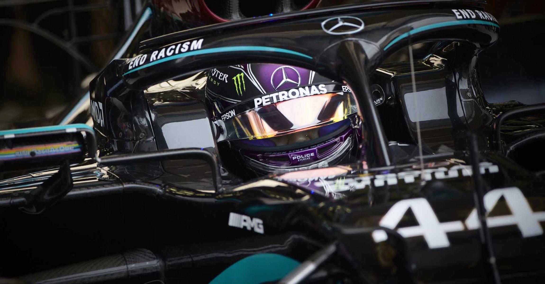 2020 Bahrain Grand Prix, Saturday - Steve Etherington Lewis Hamilton Mercedes