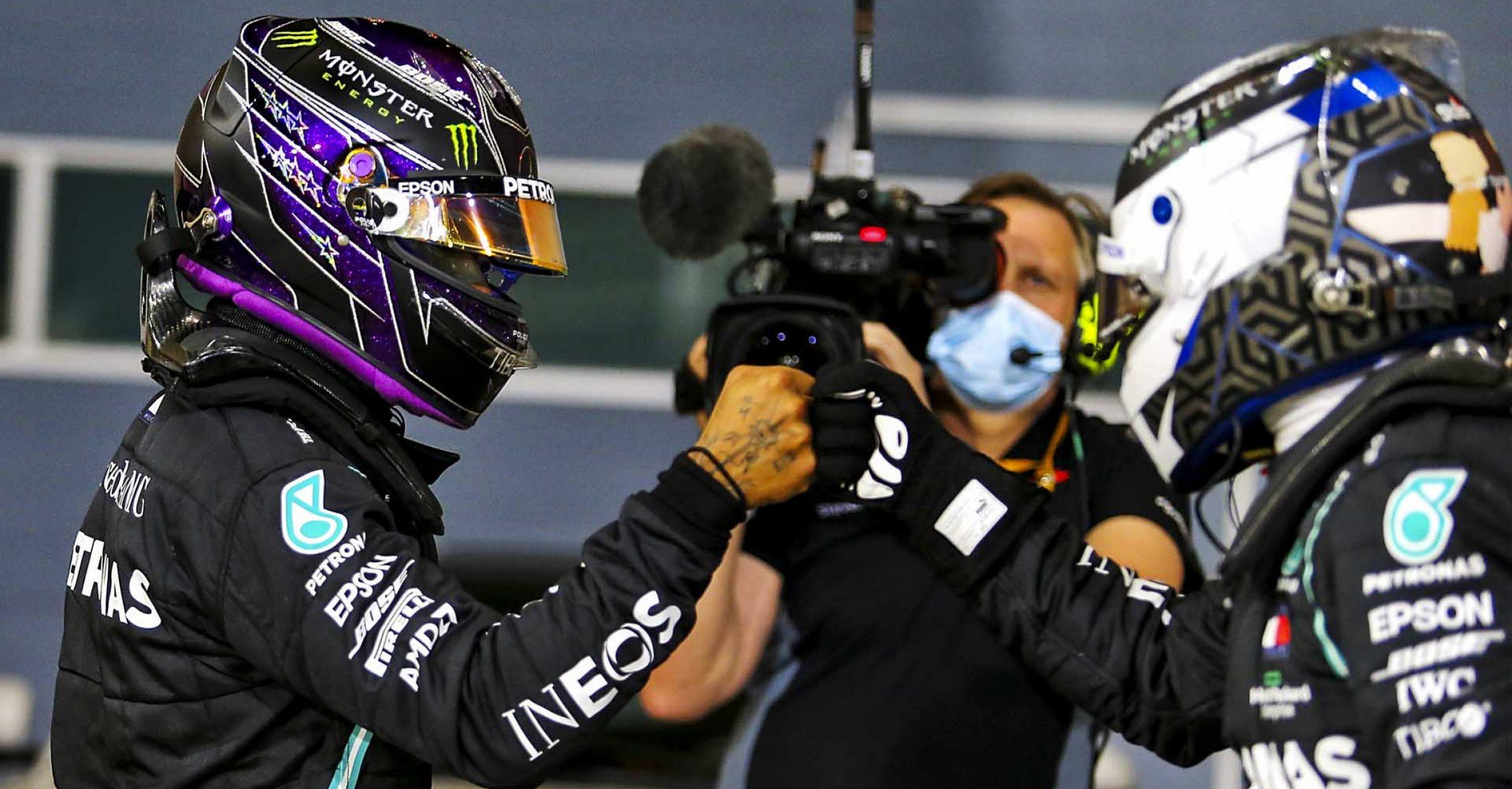 2020 Bahrain Grand Prix, Saturday - LAT Images Lewis Hamilton Mercedes Valtteri Bottas
