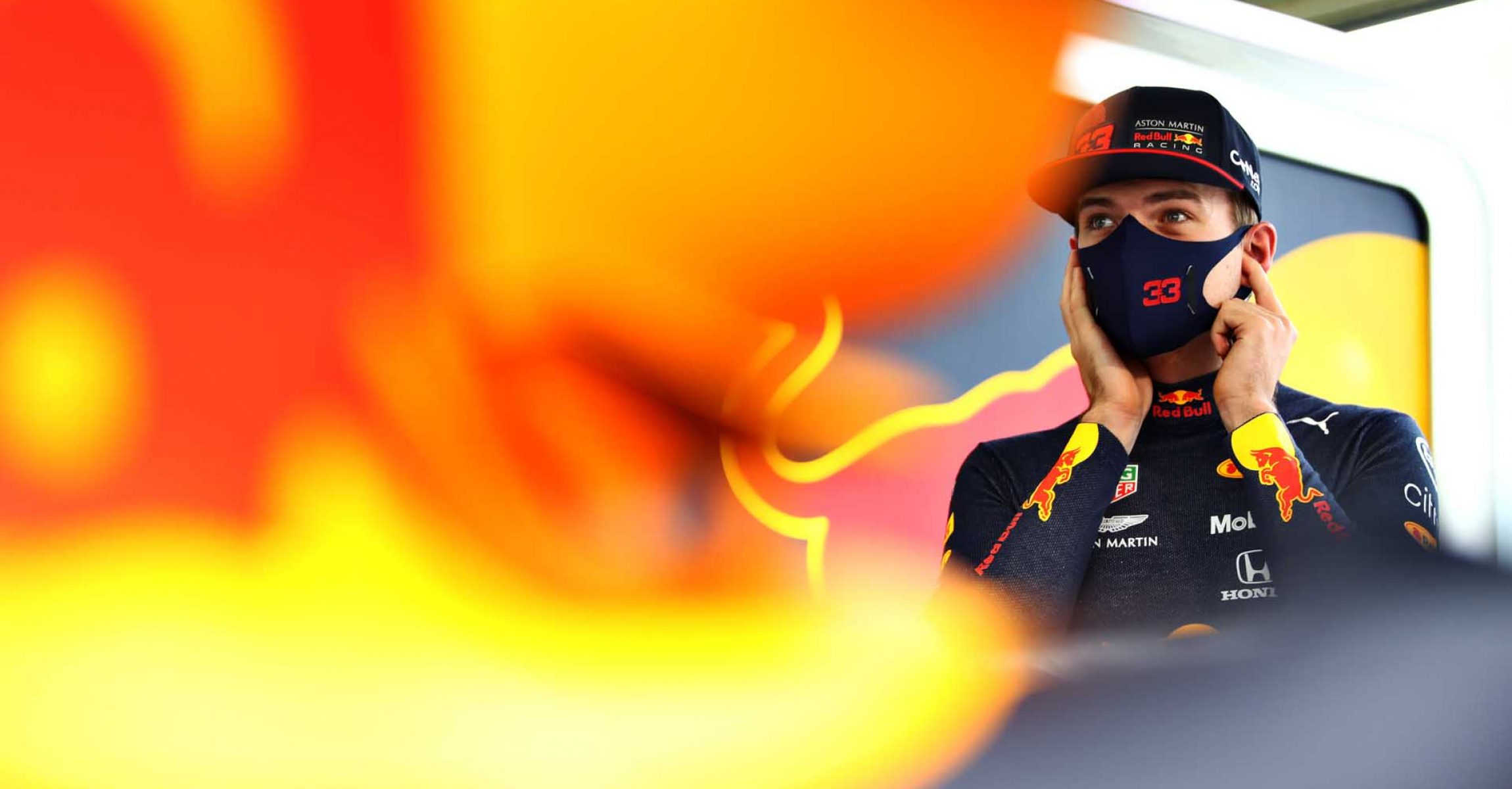 BAHRAIN, BAHRAIN - NOVEMBER 28: Max Verstappen of Netherlands and Red Bull Racing prepares to drive in the garage during final practice ahead of the F1 Grand Prix of Bahrain at Bahrain International Circuit on November 28, 2020 in Bahrain, Bahrain. (Photo by Mark Thompson/Getty Images)