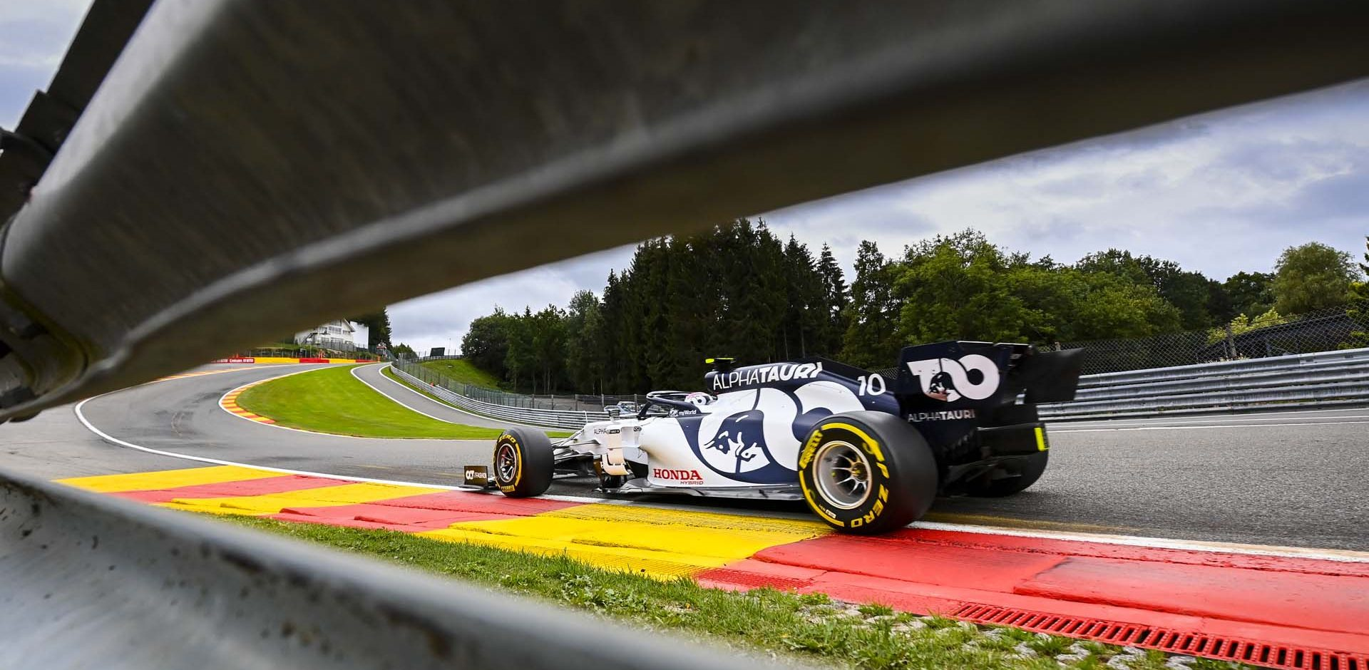 SPA-FRANCORCHAMPS, BELGIUM - AUGUST 28: Pierre Gasly, AlphaTauri AT01 during the Belgian GP at Spa-Francorchamps on Friday August 28, 2020 in Spa, Belgium. (Photo by Mark Sutton / LAT Images)