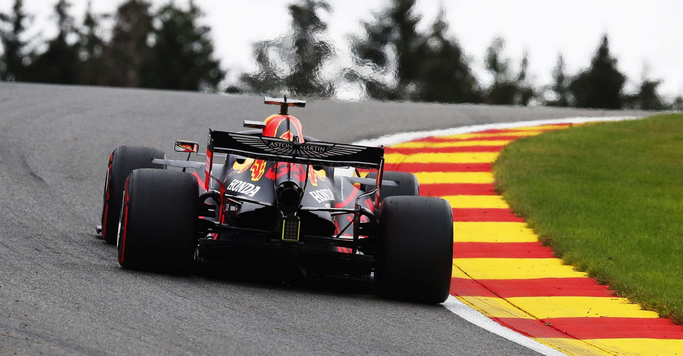 SPA, BELGIUM - AUGUST 28: Max Verstappen of the Netherlands driving the (33) Aston Martin Red Bull Racing RB16 on track during practice for the F1 Grand Prix of Belgium at Circuit de Spa-Francorchamps on August 28, 2020 in Spa, Belgium. (Photo by Francois Lenoir/Pool via Getty Images)