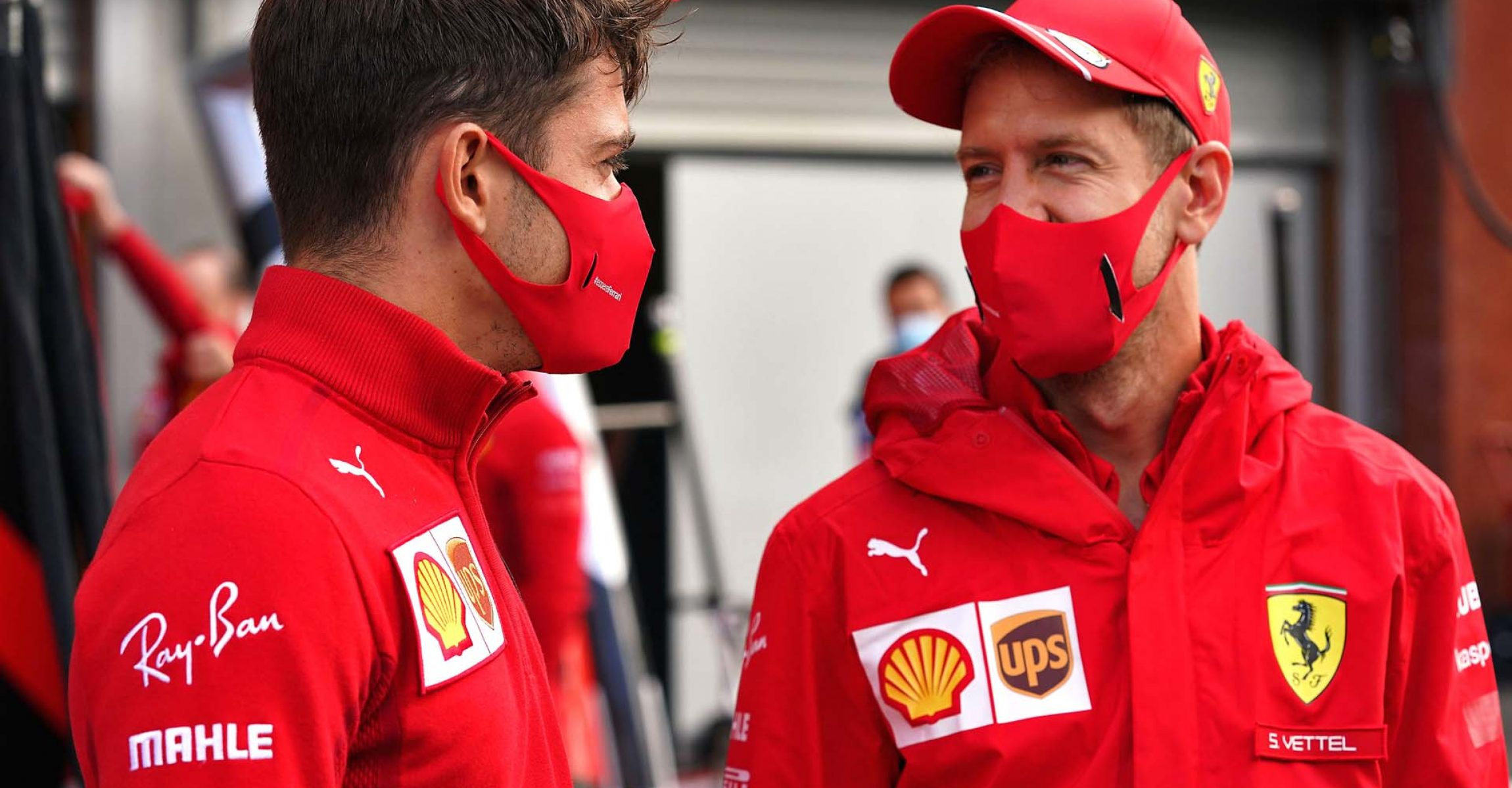GP BELGIO F1/2020 -  DOMENICA 30/08/2020    credit: @Scuderia Ferrari Press Office Charles Leclerc Sebastian Vettel