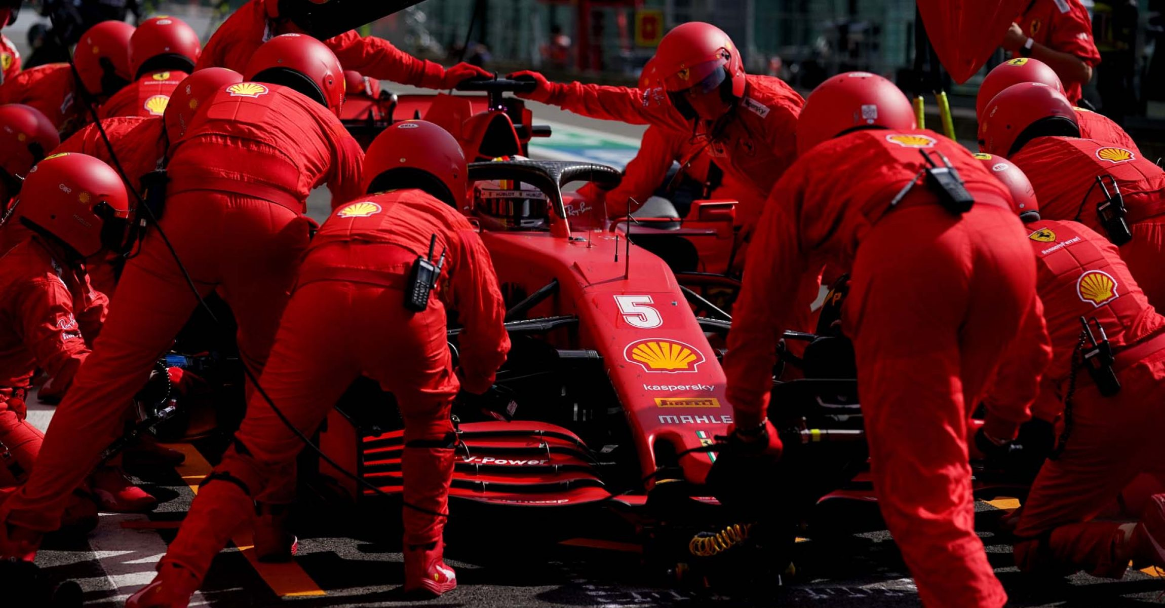GP BELGIO F1/2020 -  DOMENICA 30/08/2020    credit: @Scuderia Ferrari Press Office Sebastian Vettel pitstop