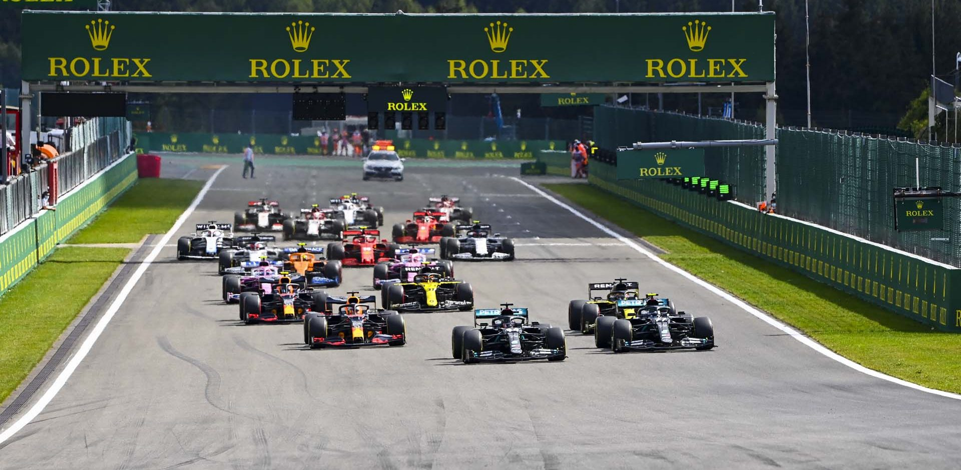 2020 Belgian Grand Prix, Sunday - LAT Images start