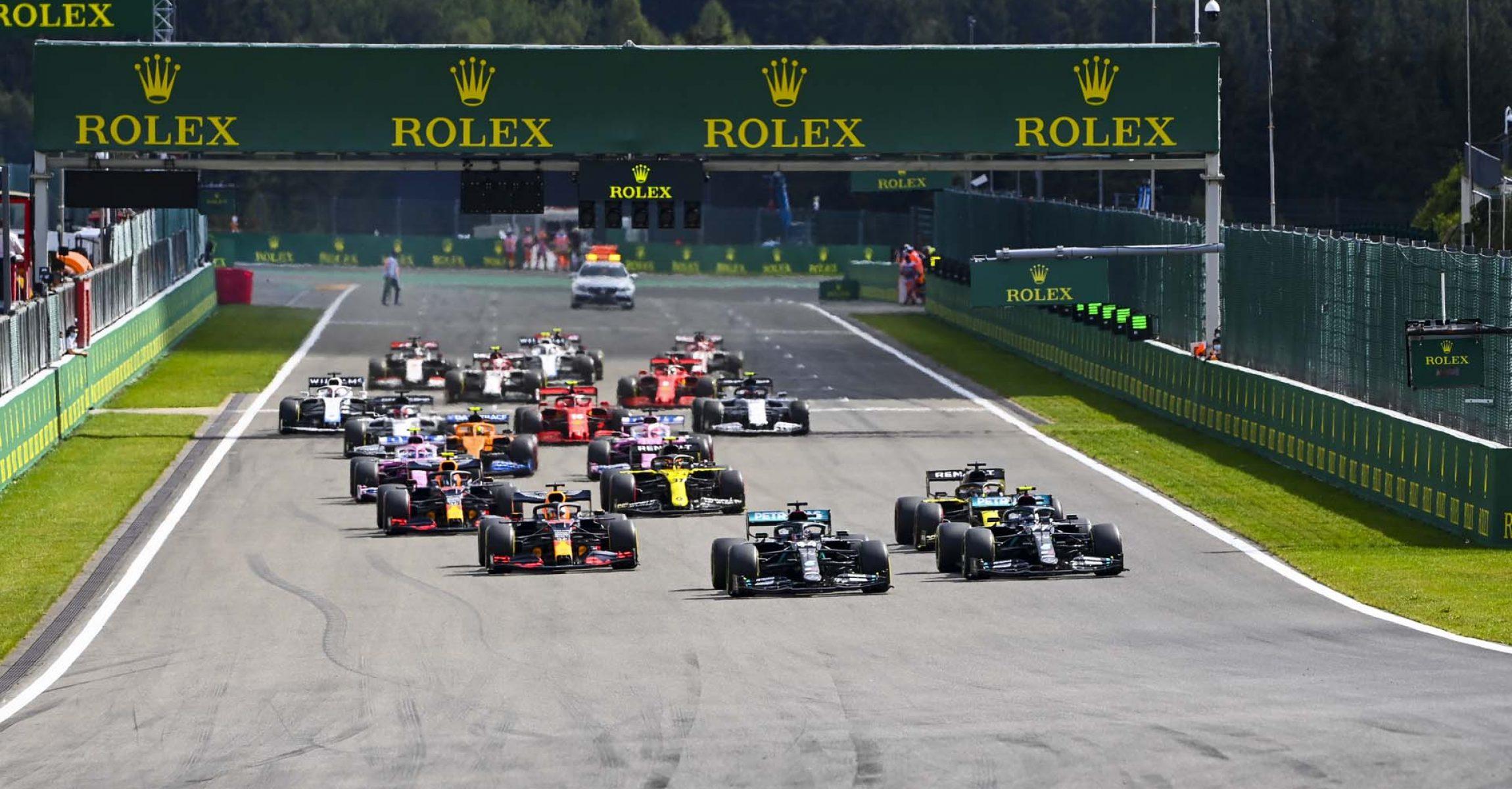 2020 Belgian Grand Prix, Sunday - LAT Images start
