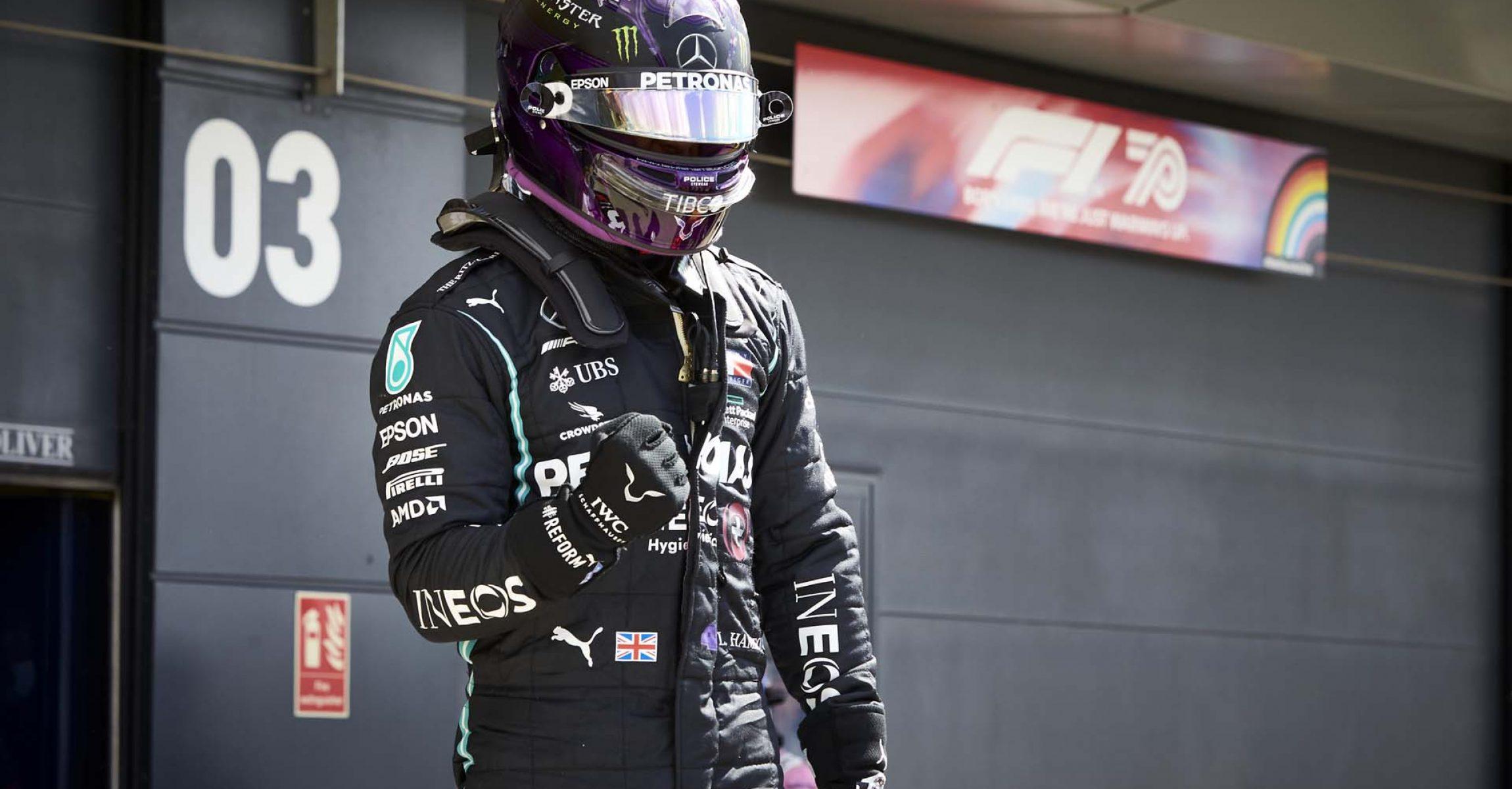 2020 British Grand Prix, Saturday - Steve Etherington Lewis Hamilton Mercedes