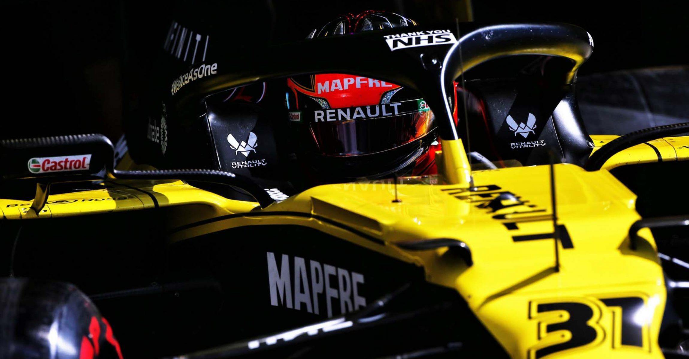 Esteban Ocon (FRA) Renault F1 Team RS20. British Grand Prix, Saturday 1st August 2020. Silverstone, England.
